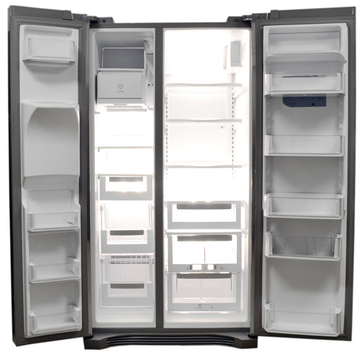 this fridge is unusual in its greater proportion of drawers to shelves