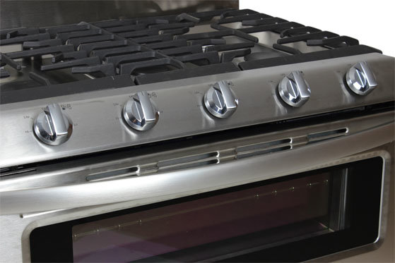 Conveniently, The Rangetop Knobs Are Canted Up Towards The User For Easy  Access And Adjustment.