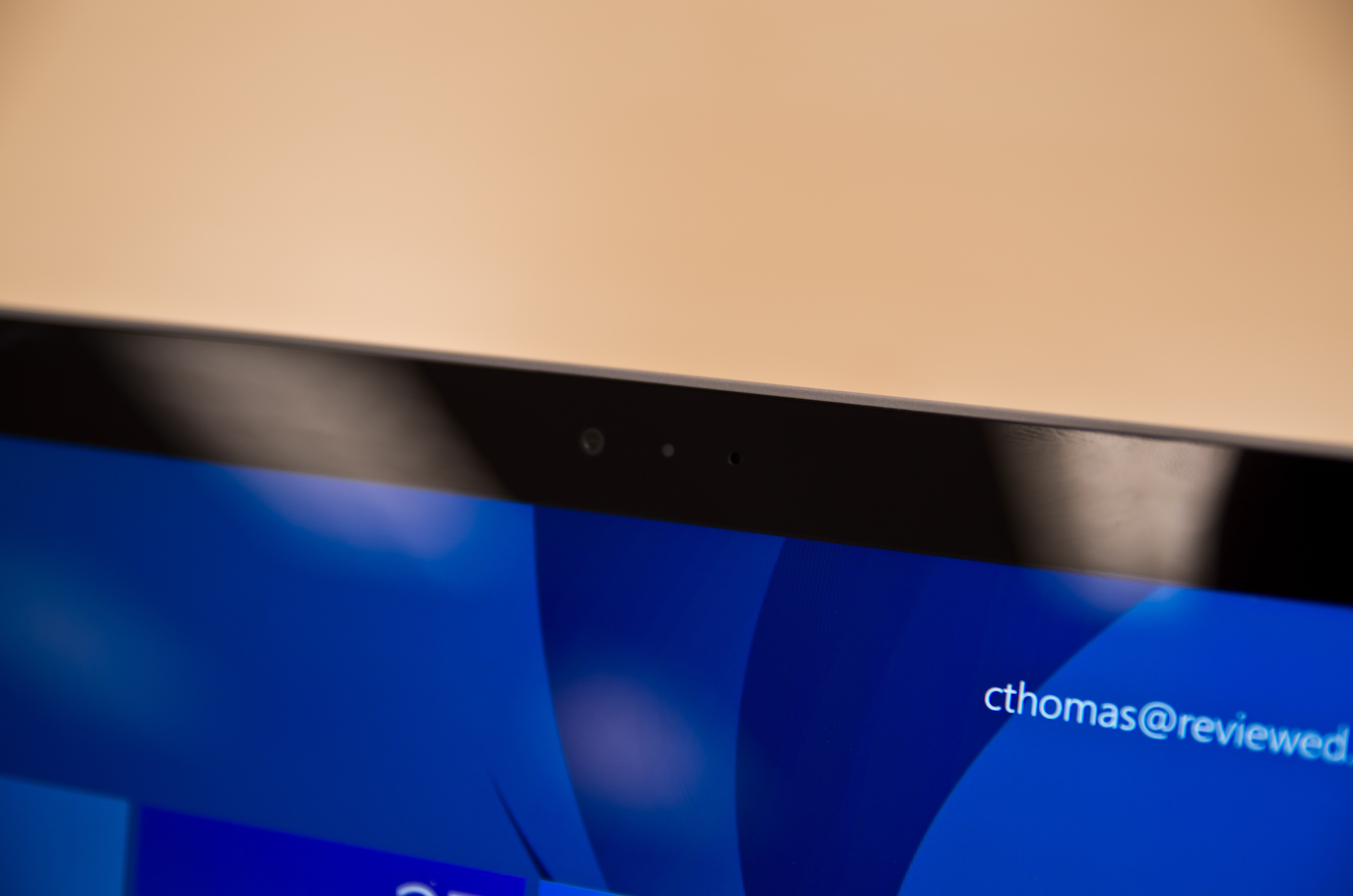 A closer look at the Microsoft Surface Pro 3's user-facing camera.