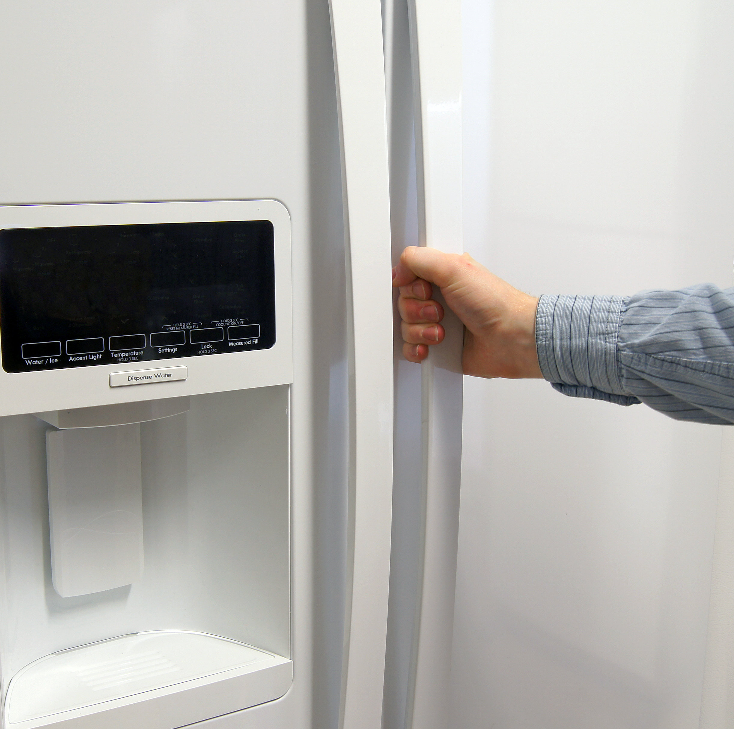 The Kenmore Elite 51162's long smooth handles are easy to grip.