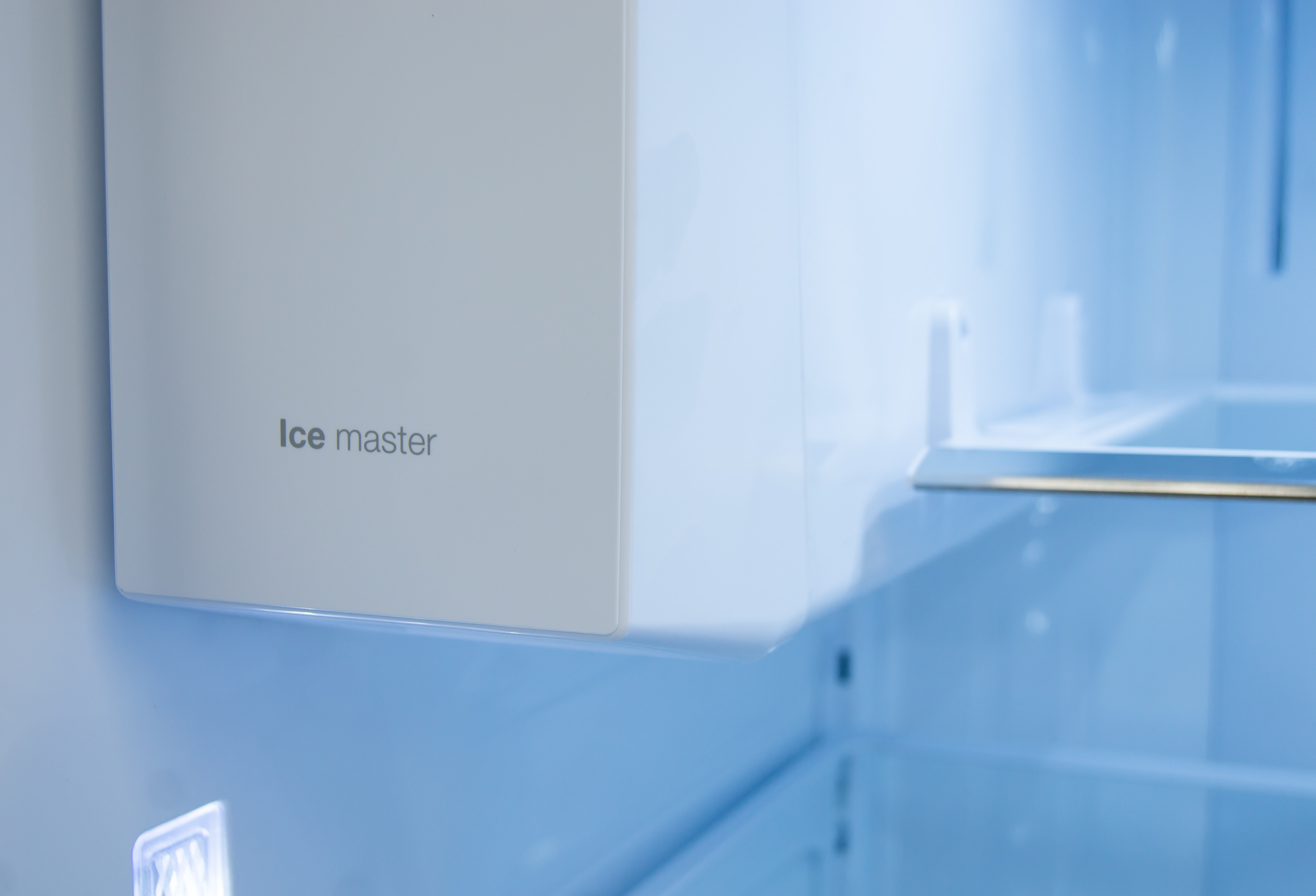 """The """"Ice Master"""" is easily accessible at the top left corner of the fridge compartment."""