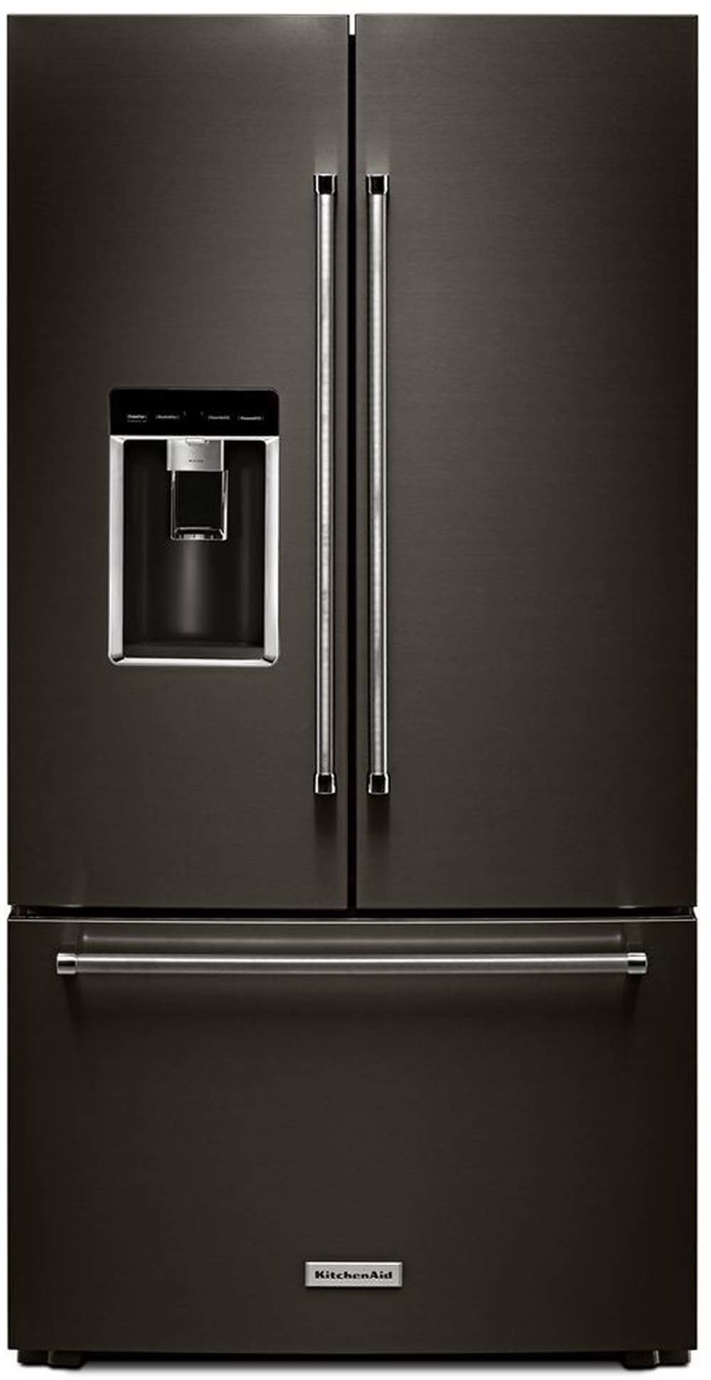 The black stainless steel option—the KRFC704FBS—costs over $3,800 but it looks pretty awesome.