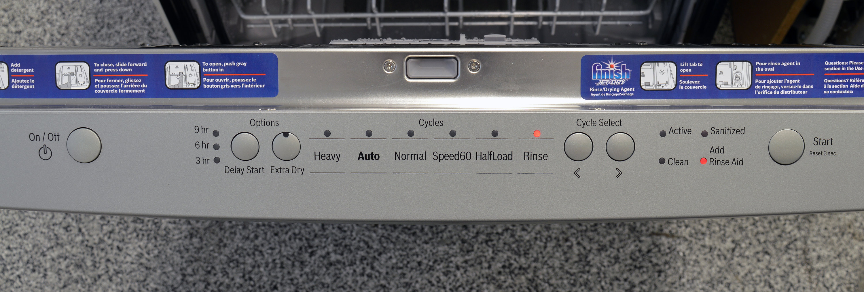 bosch dishwasher how to cancel cycle