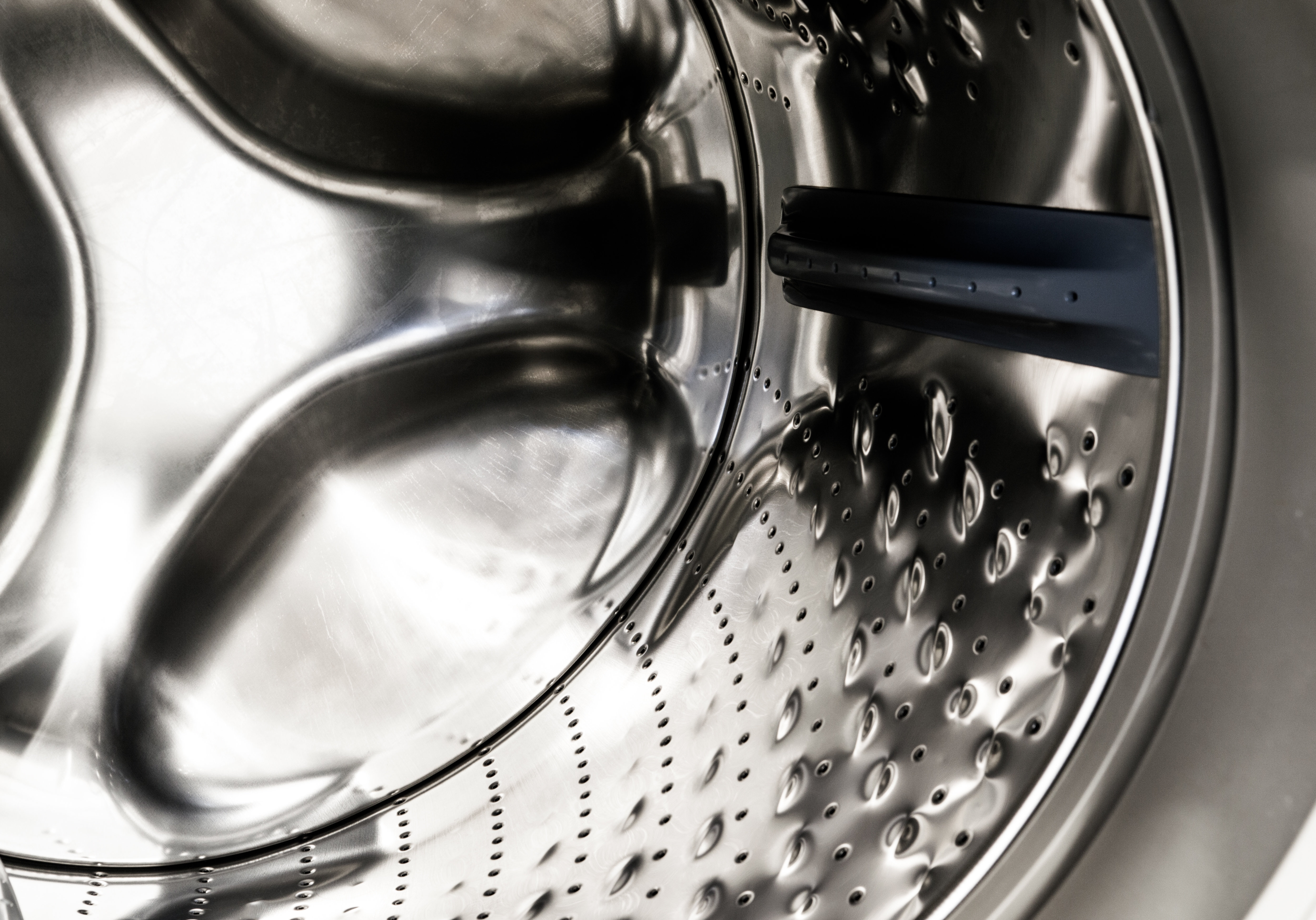 The 4.3-cu.-ft. drum is lined with steel bubbles that help wash your clothes without tearing them to shreds. This drums is covered under a 10-year warranty.