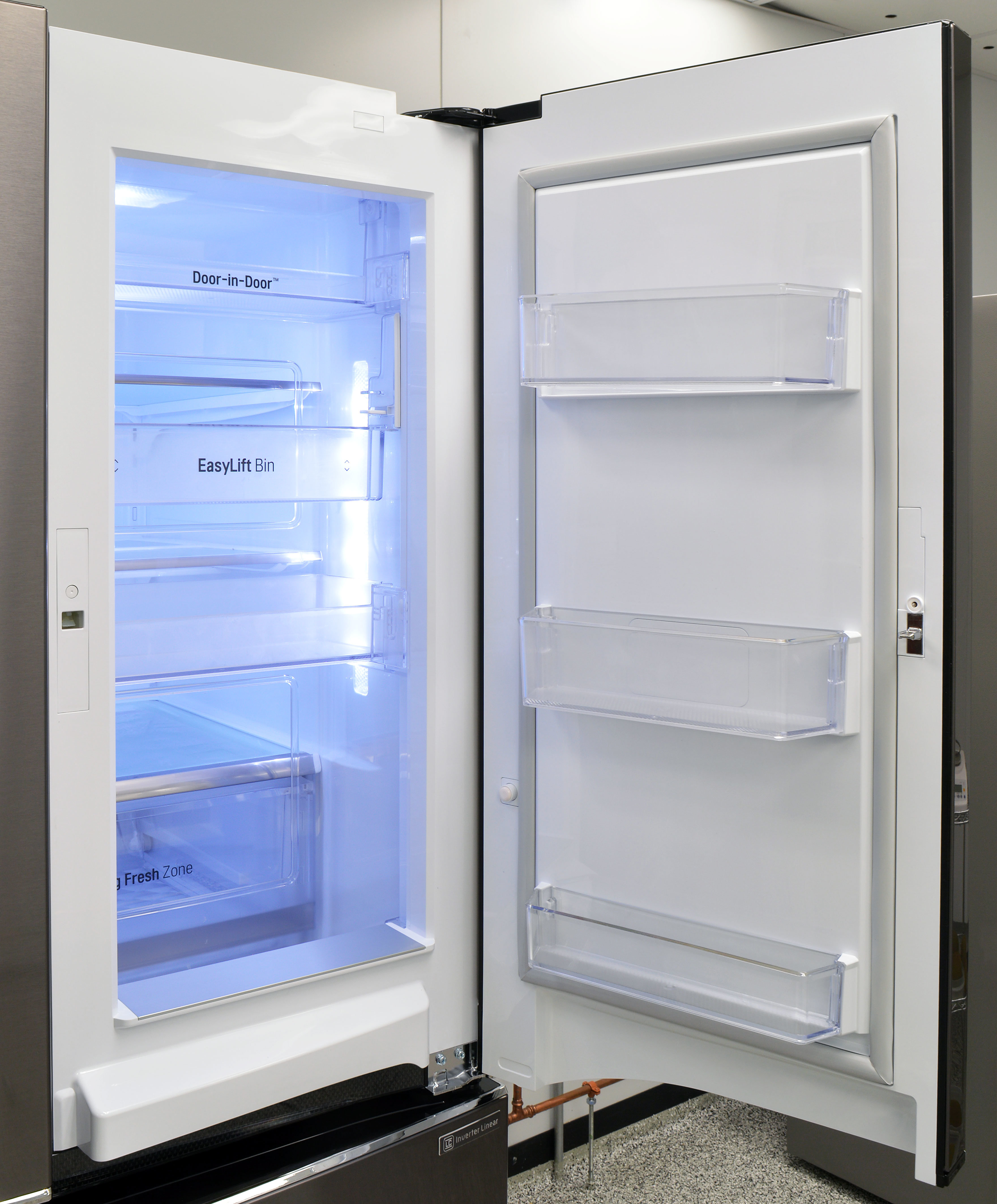 The LG LPXS30866D's door-in-door storage is designed to provide quick access to frequently-used items.