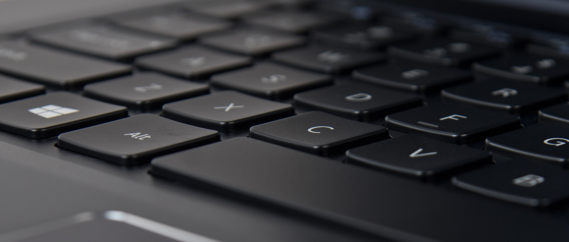 A photograph of the Samsung ATIV Book 9 2014 edition's keyboard.