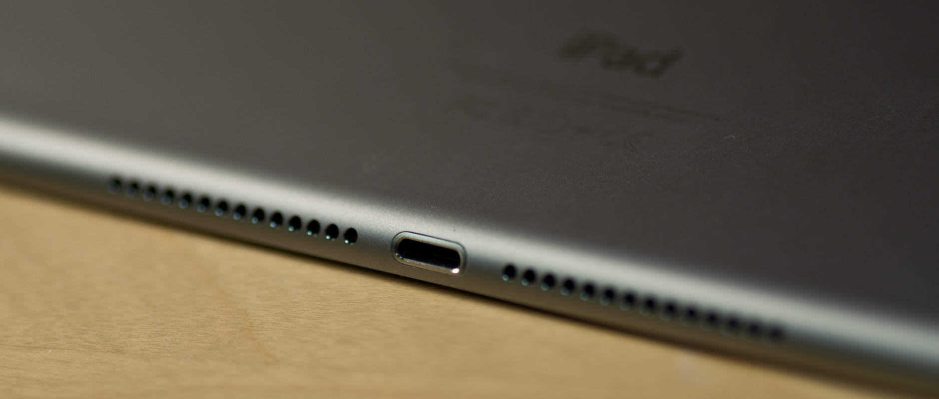 A photograph of the Apple iPad Air 2's speaker.