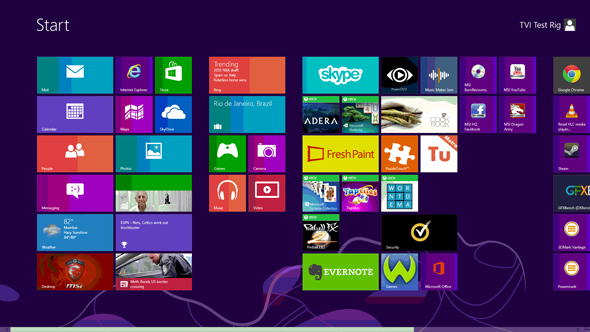 Windows 8 looks like Windows 8, love it or hate it.