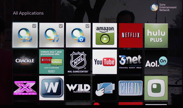 Sony's smart platform is merely a collection of apps.