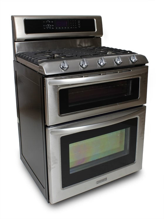KitchenAid KDRS505XSS 30-Inch Dual Oven Gas Range Review ...