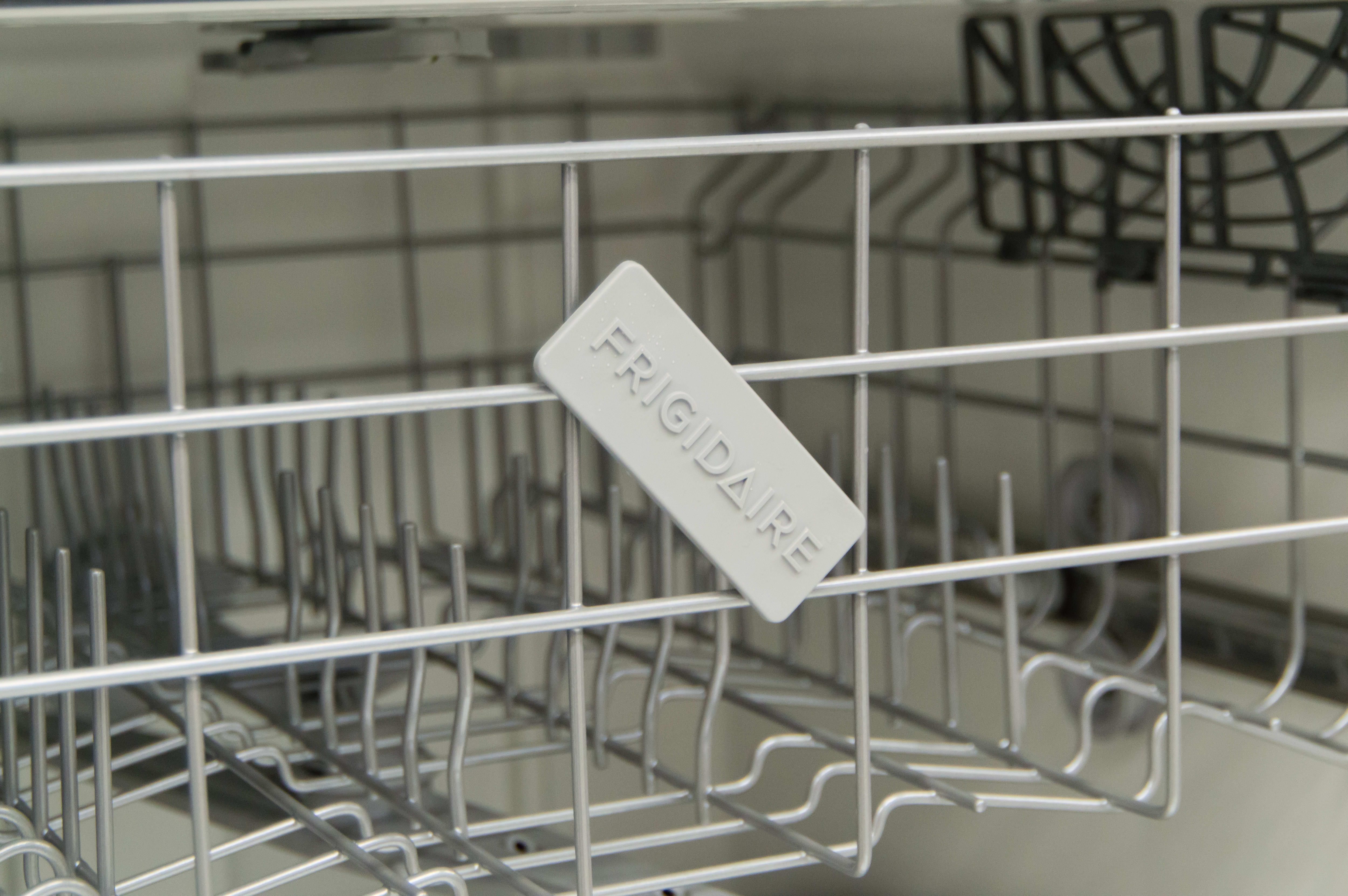 Unfortunately, the Frigidaire logo can sometimes hang down like this.