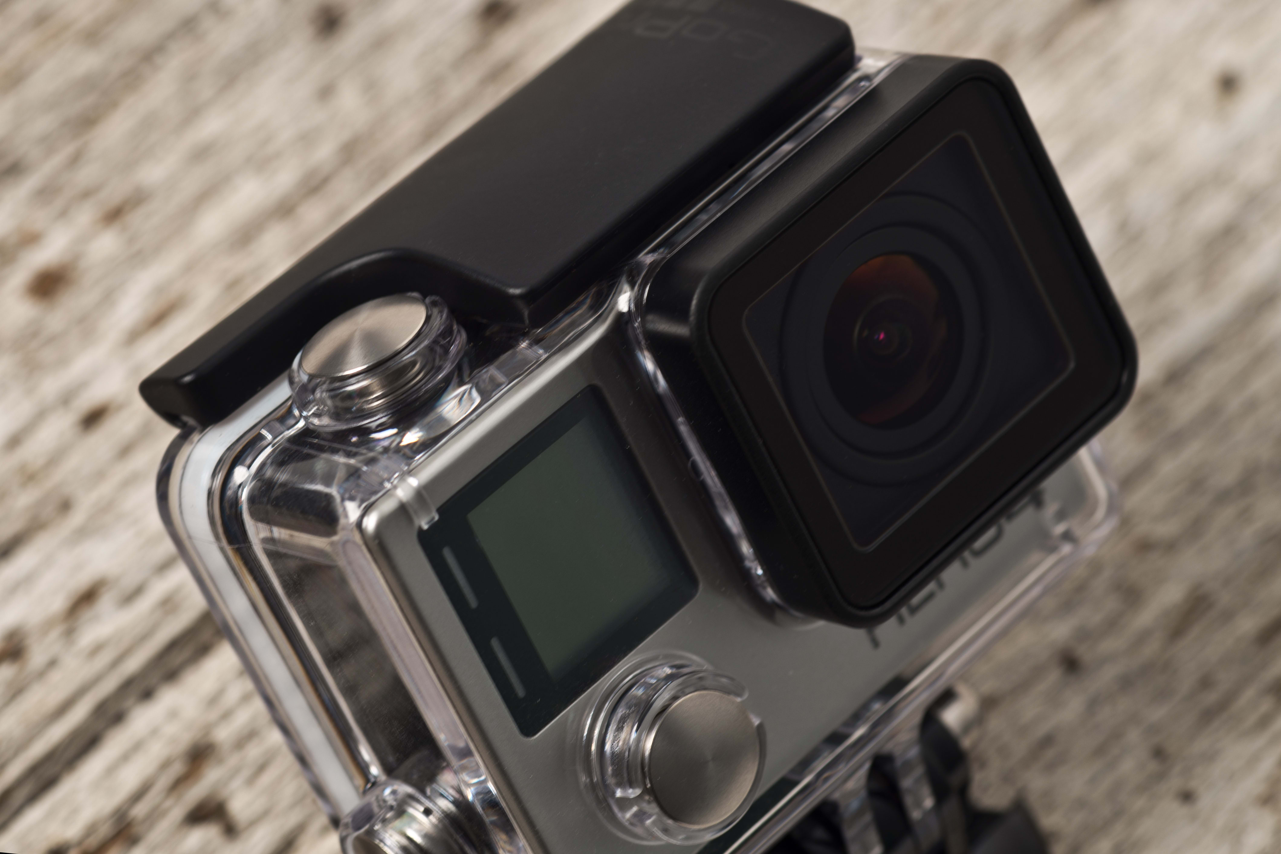 A photograph of the GoPro Hero 4 Black's case.