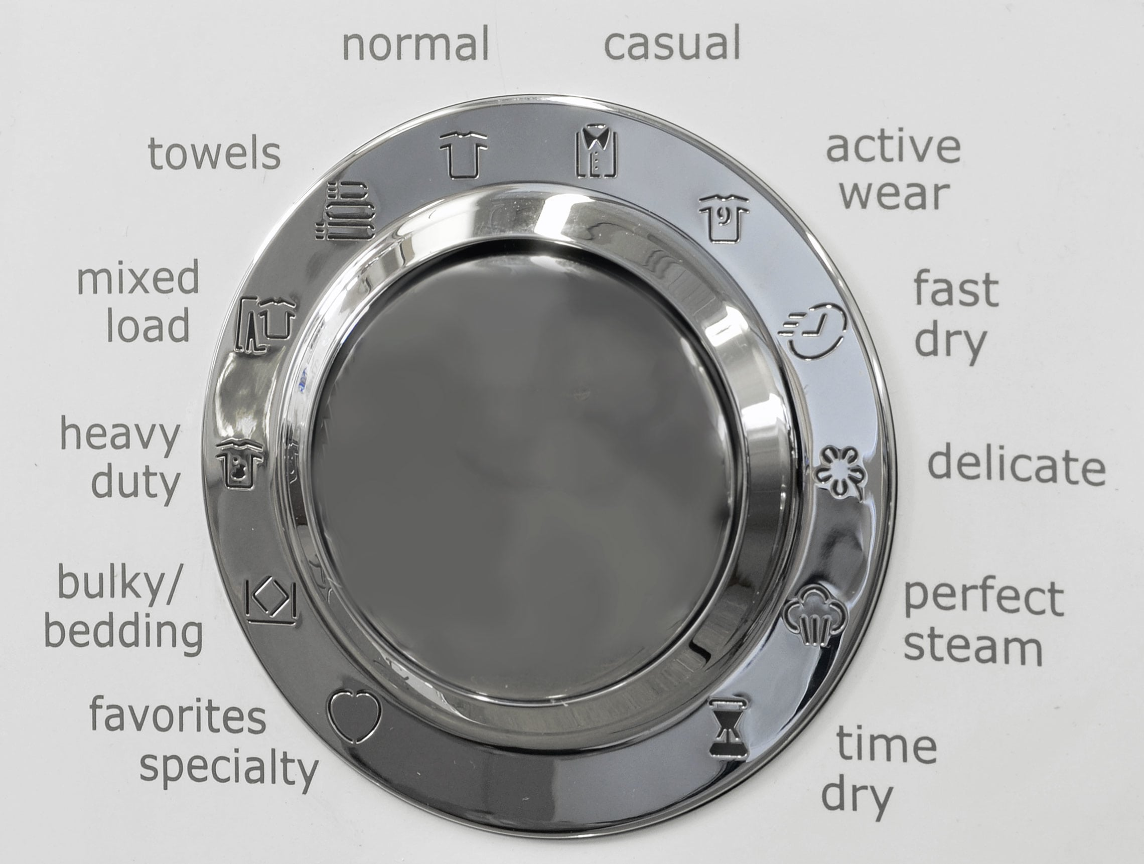 You can push the Electrolux EWMGD70JIW's cycle knob into its recessed position when not in use.