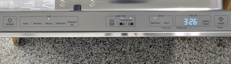 Samsung DW80J7550US touch-sensitive controls