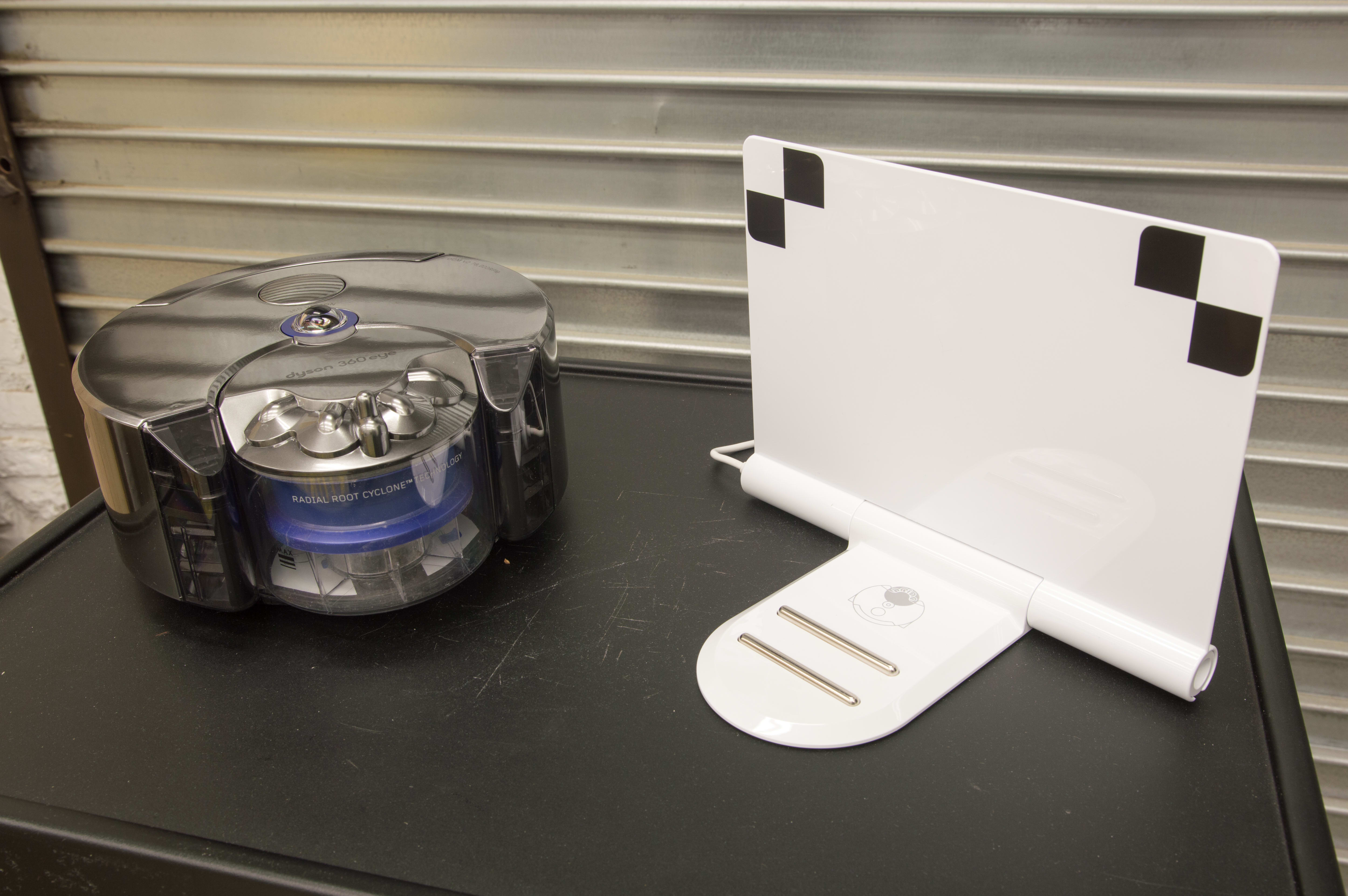 The Dyson 360 Eye only comes with the unit itself and a charging dock.