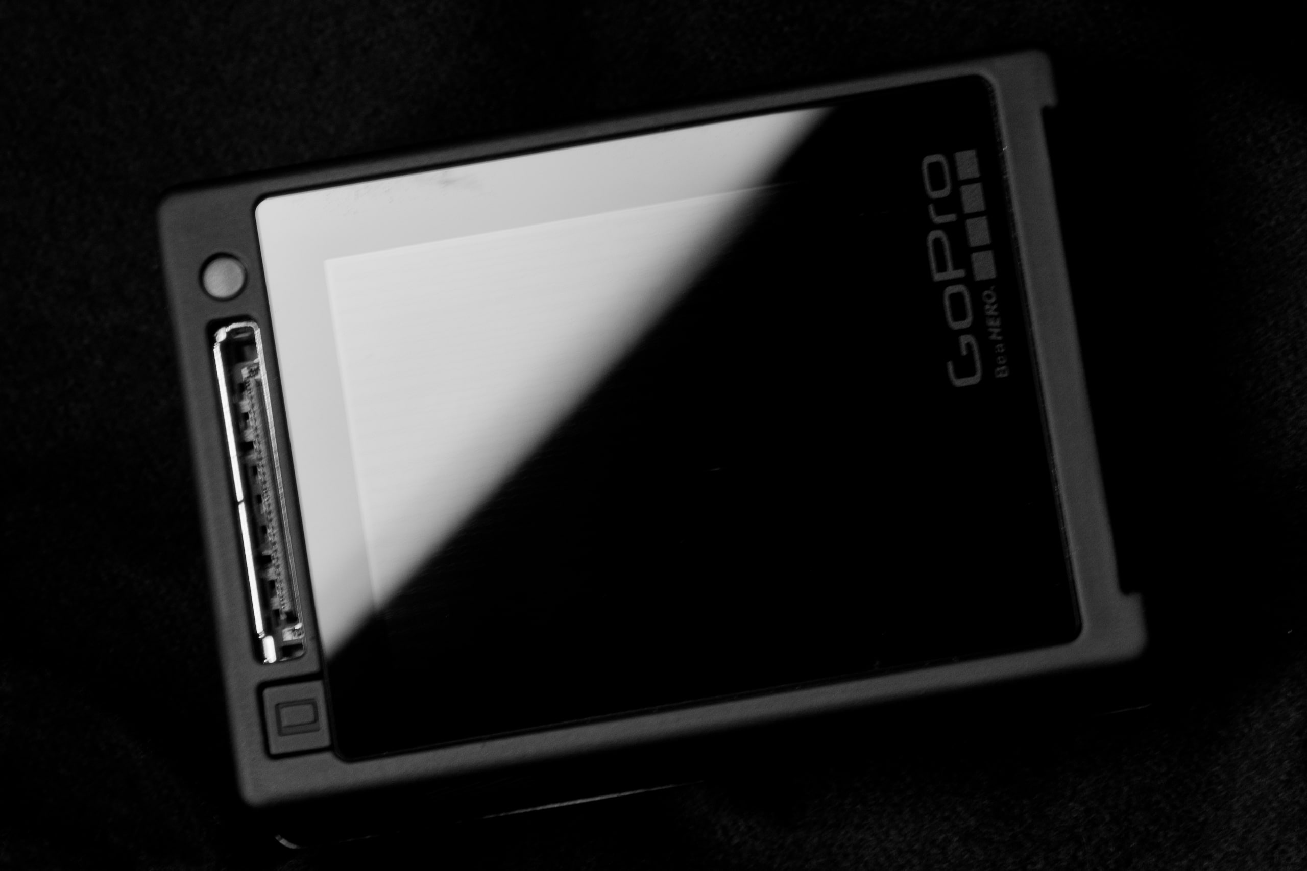 A photograph of the GoPro Hero 4 Silver's screen