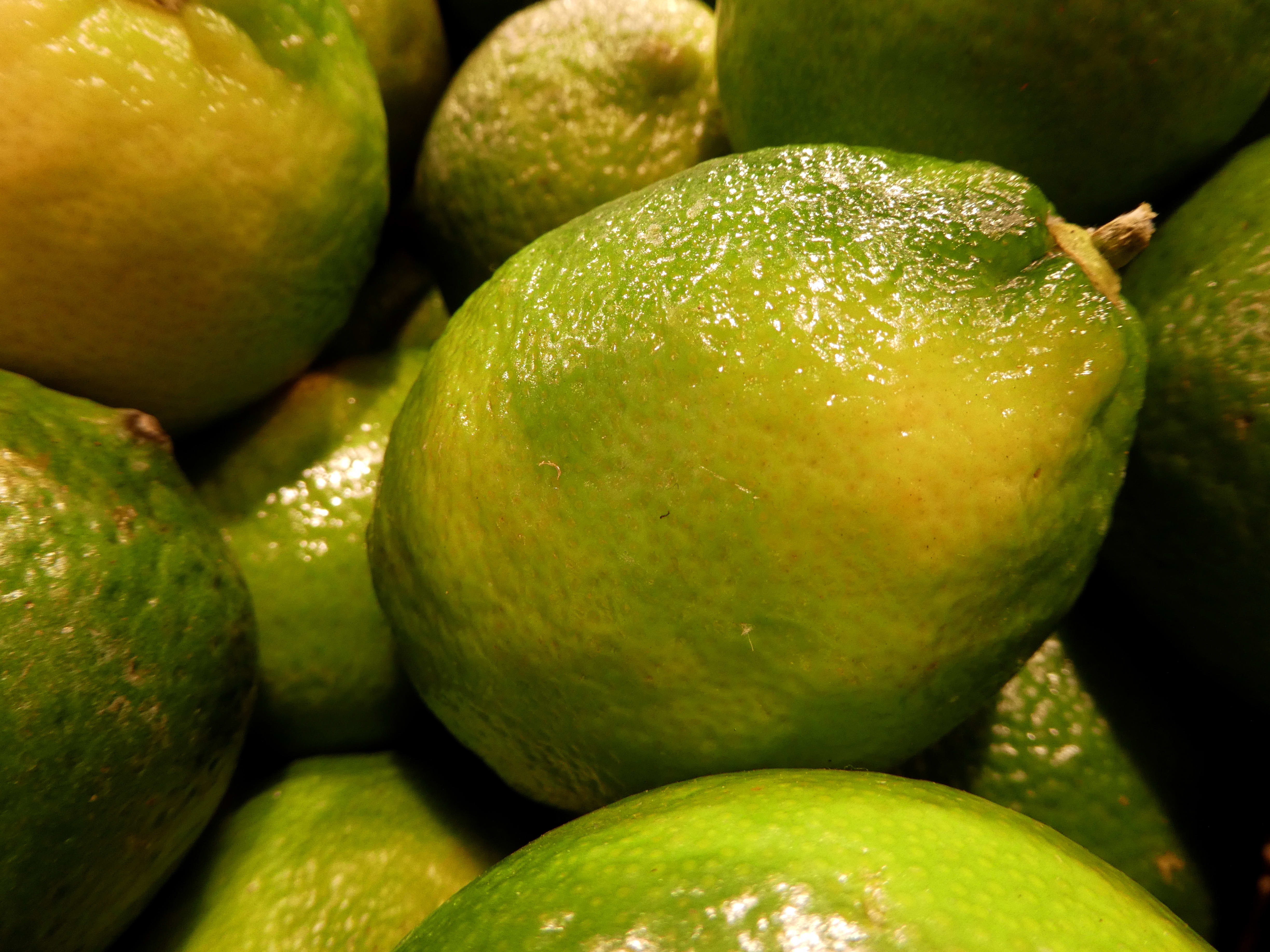 We like the ZS60's white balance, which handles the odd coloration of these limes well.