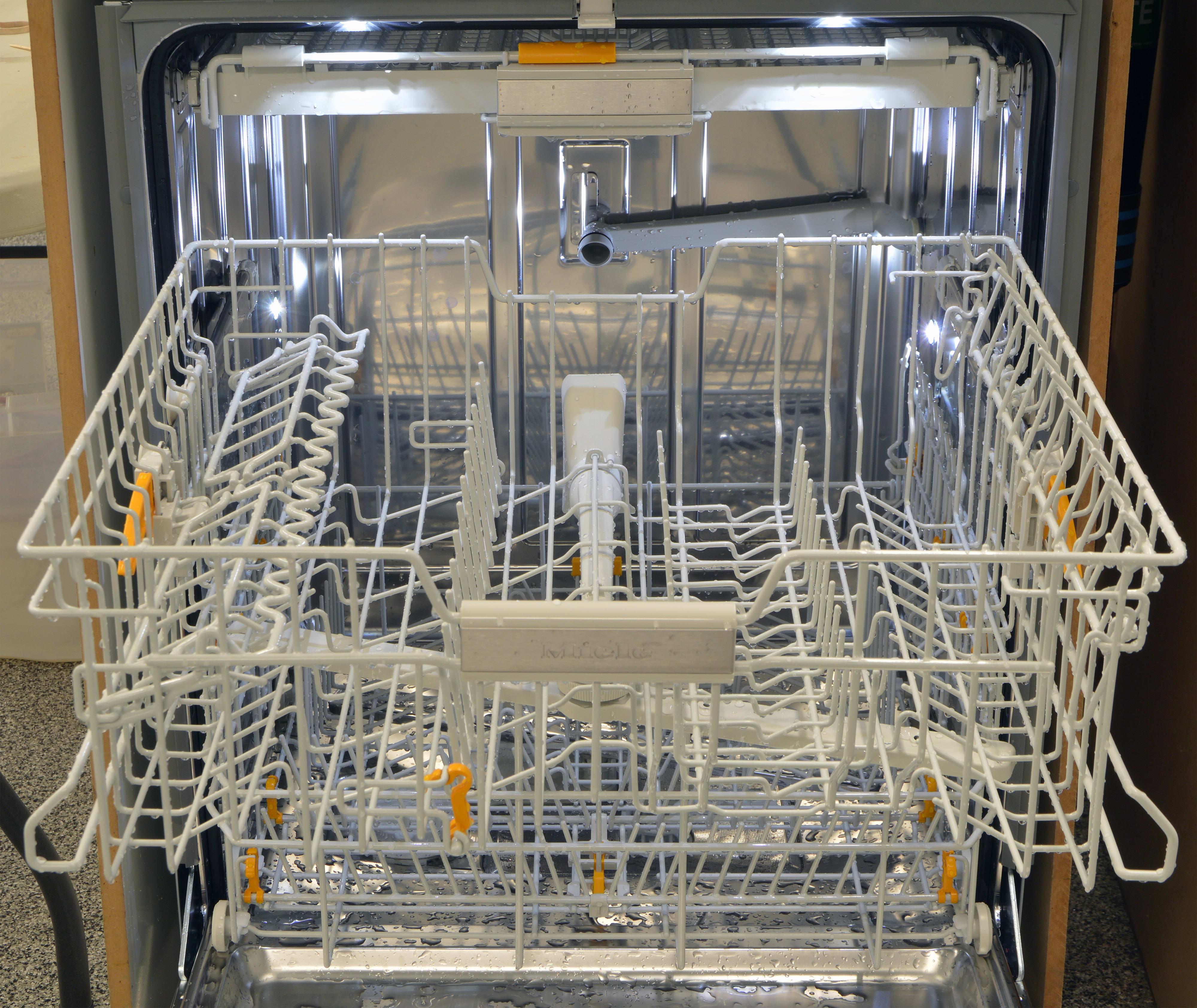 Full view of the upper rack