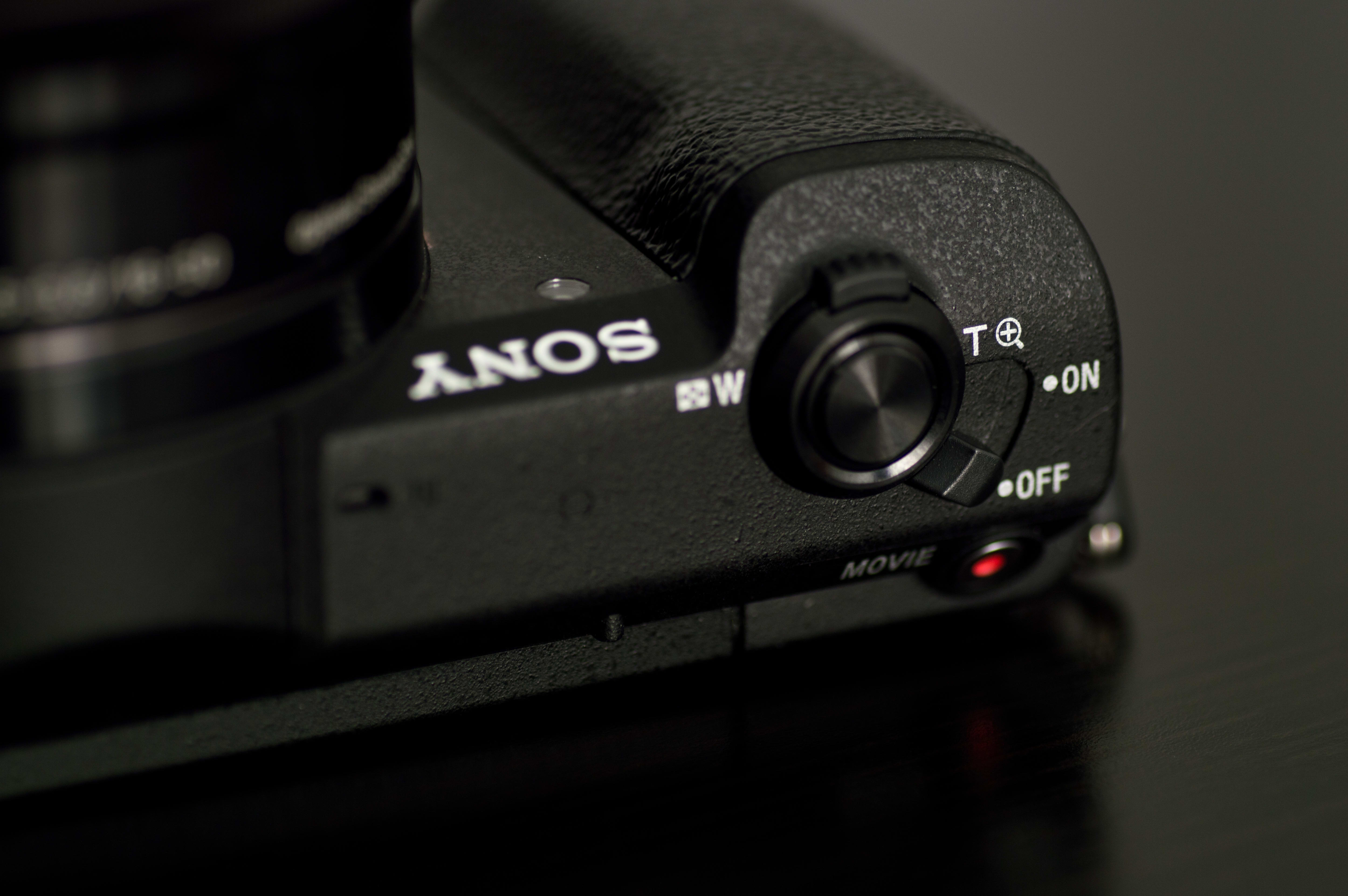 A shot of the shutter release and top controls on the A5100.