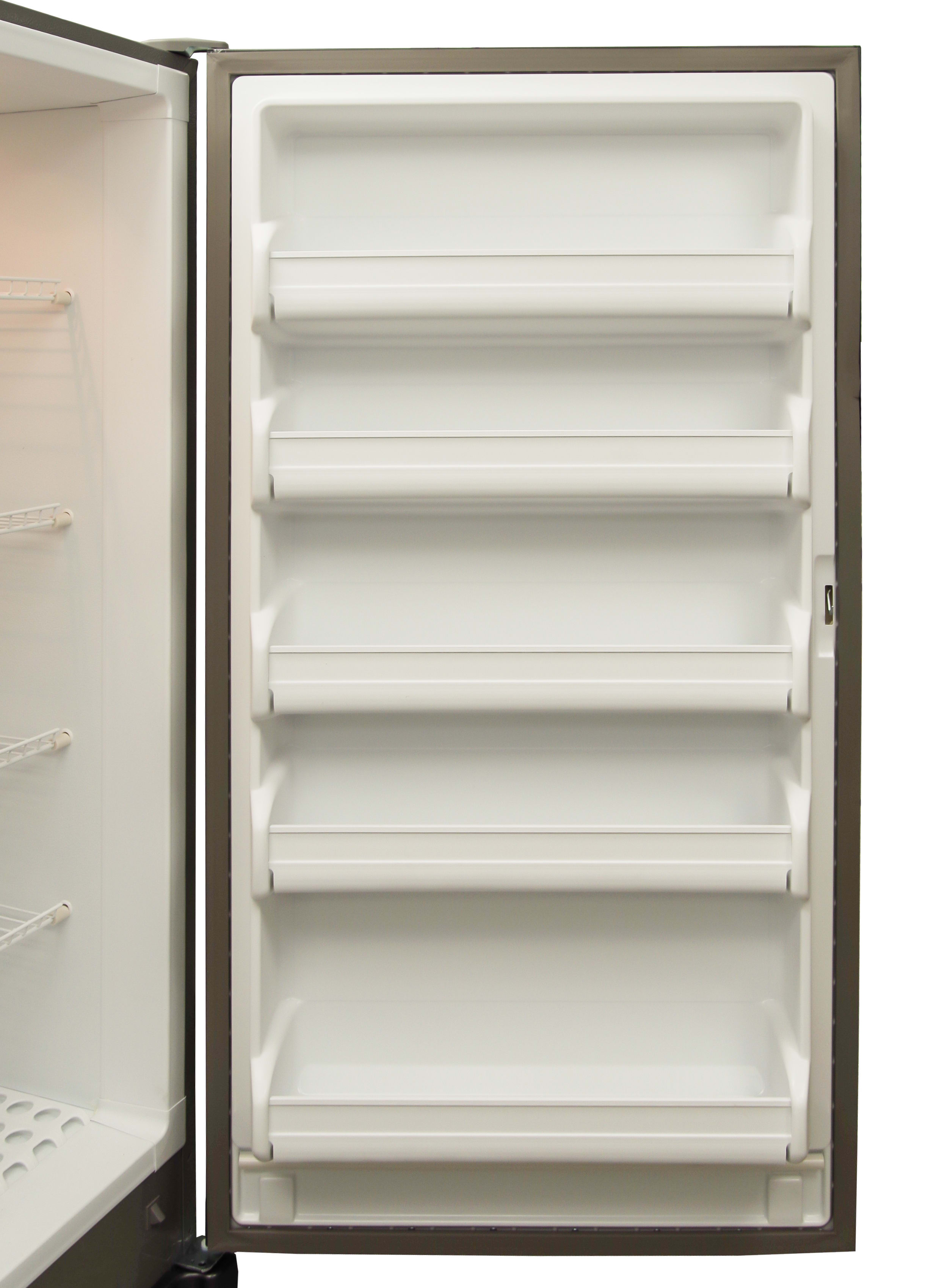 Five door shelves is fairly standard, as is the fact that they're unmovable.