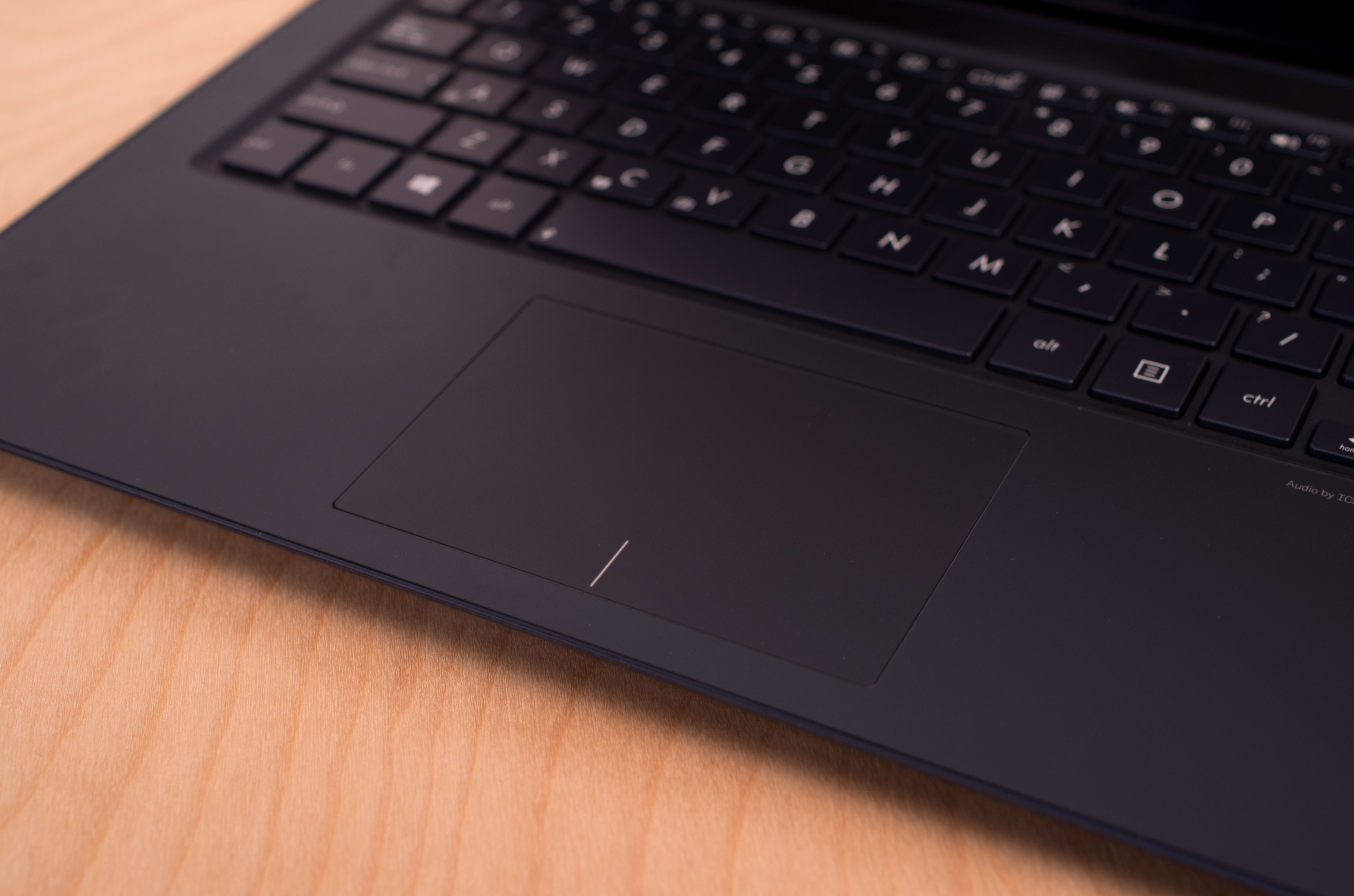 A close-up picture of the Asus UX301L's touchpad.
