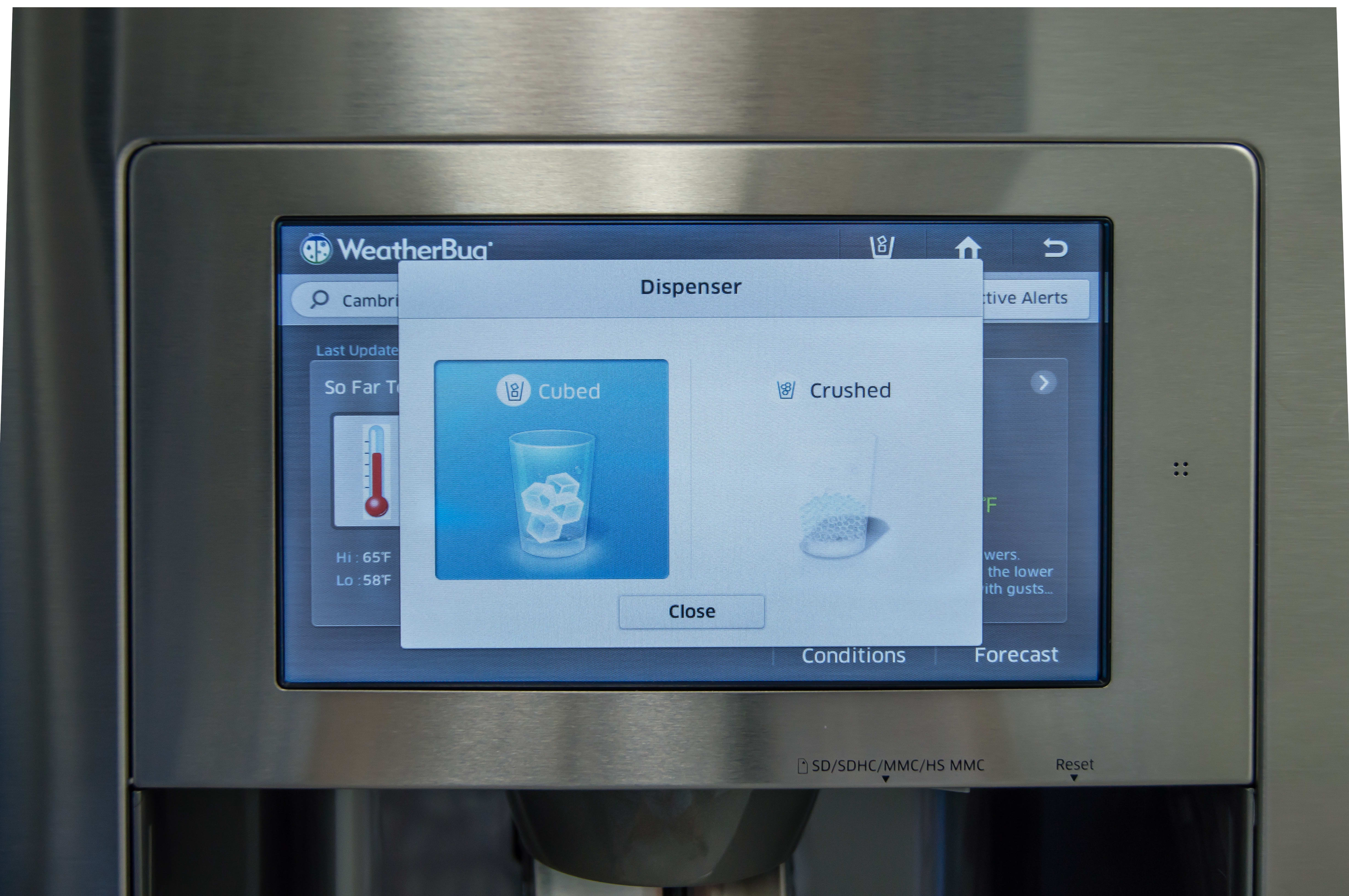 You'll need to use the LCD even for basic functions, like controlling the icemaker.