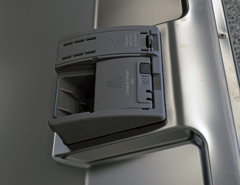 Bosch SHS5AV55UC rinse aid and detergent dispenser