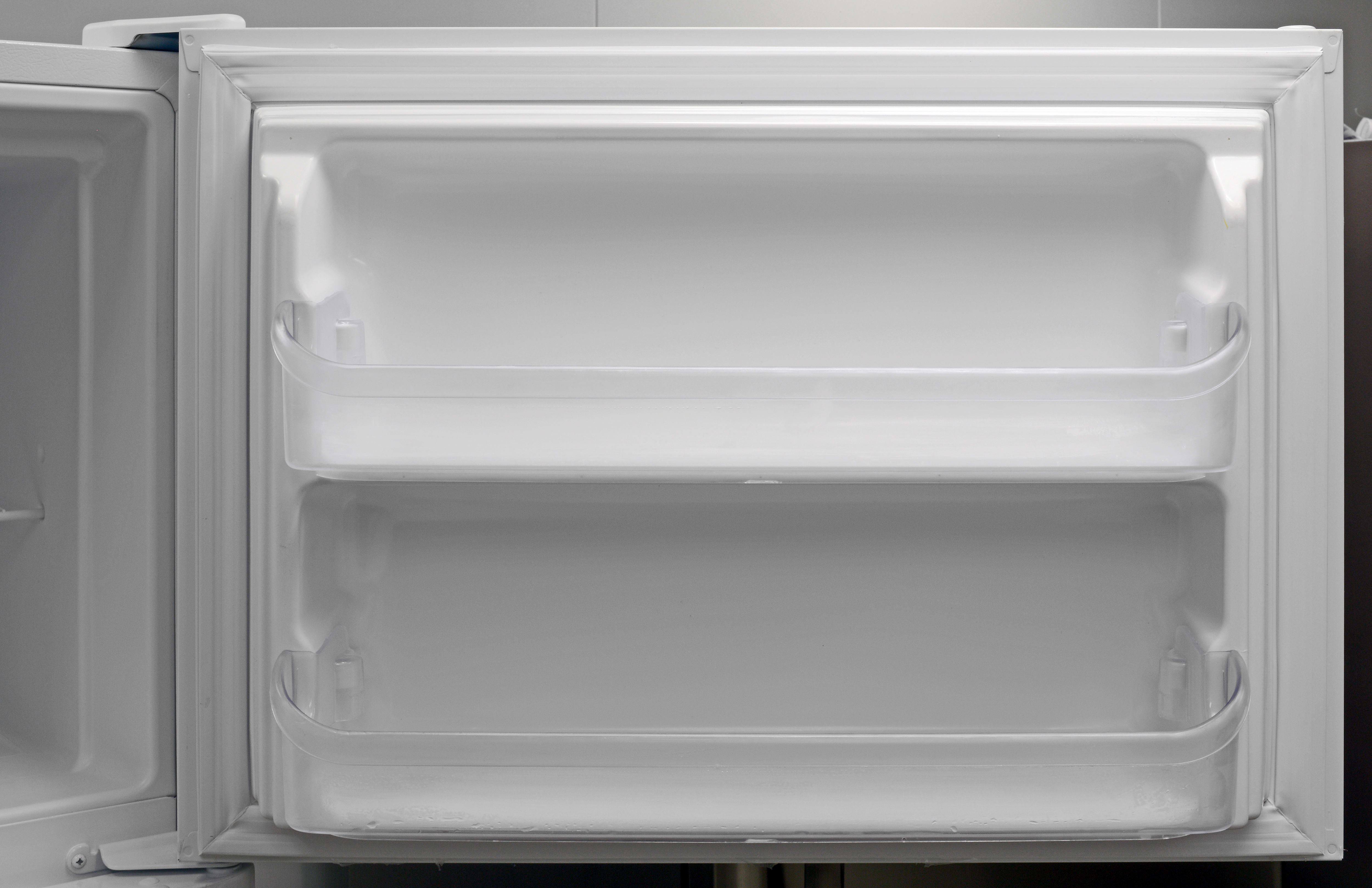 The Frigidaire FFHT2131QP's freezer door, with its fixed shelves, is easily the most basic element of the entire appliance.