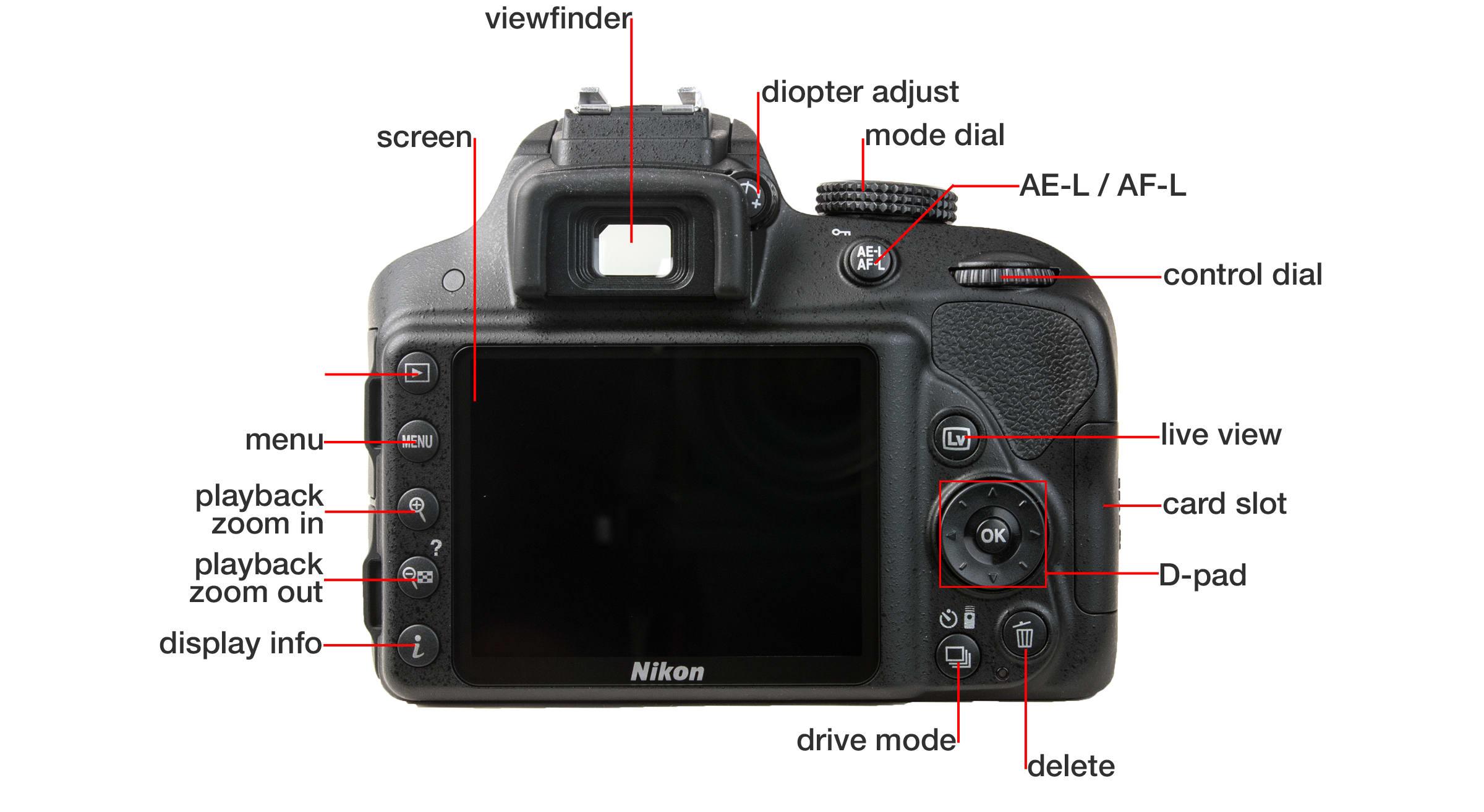 Back of Nikon D3300