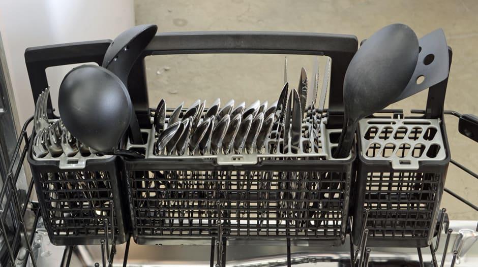 GE Profile PDT760SSFSS cutlery basket capacity