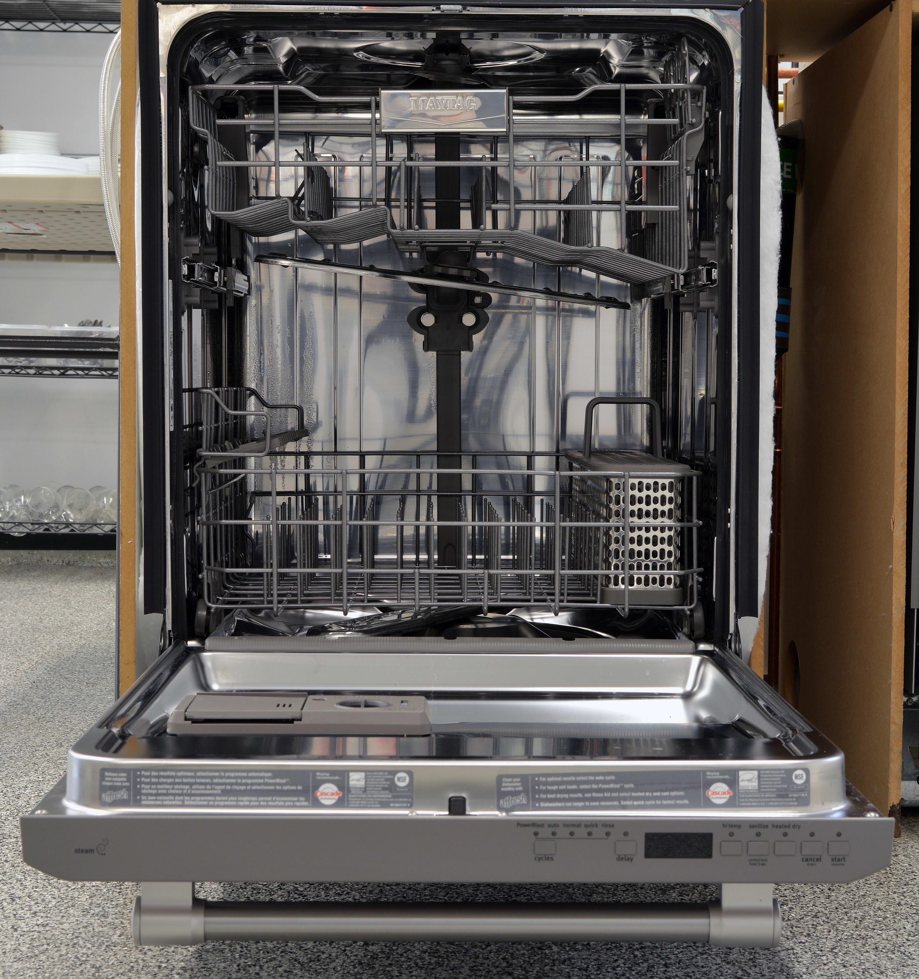 Maytag mdb8969sdm dishwasher review dishwashers for White dishwasher with stainless steel interior
