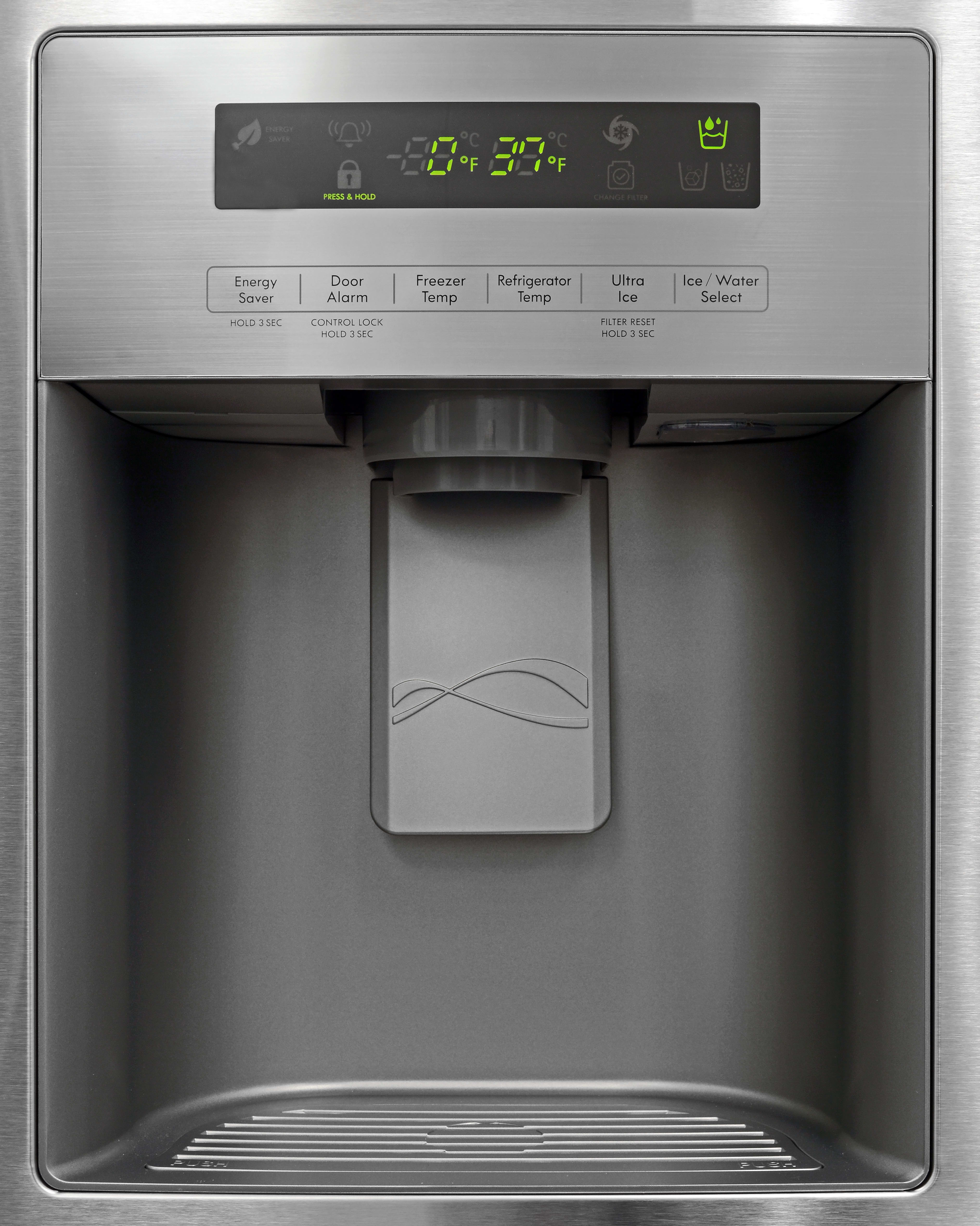 The Kenmore 70333's dispenser is one of the few we've seen that didn't come equipped with a small light.