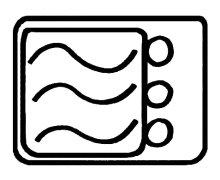Atom Symbol On Plastic Container