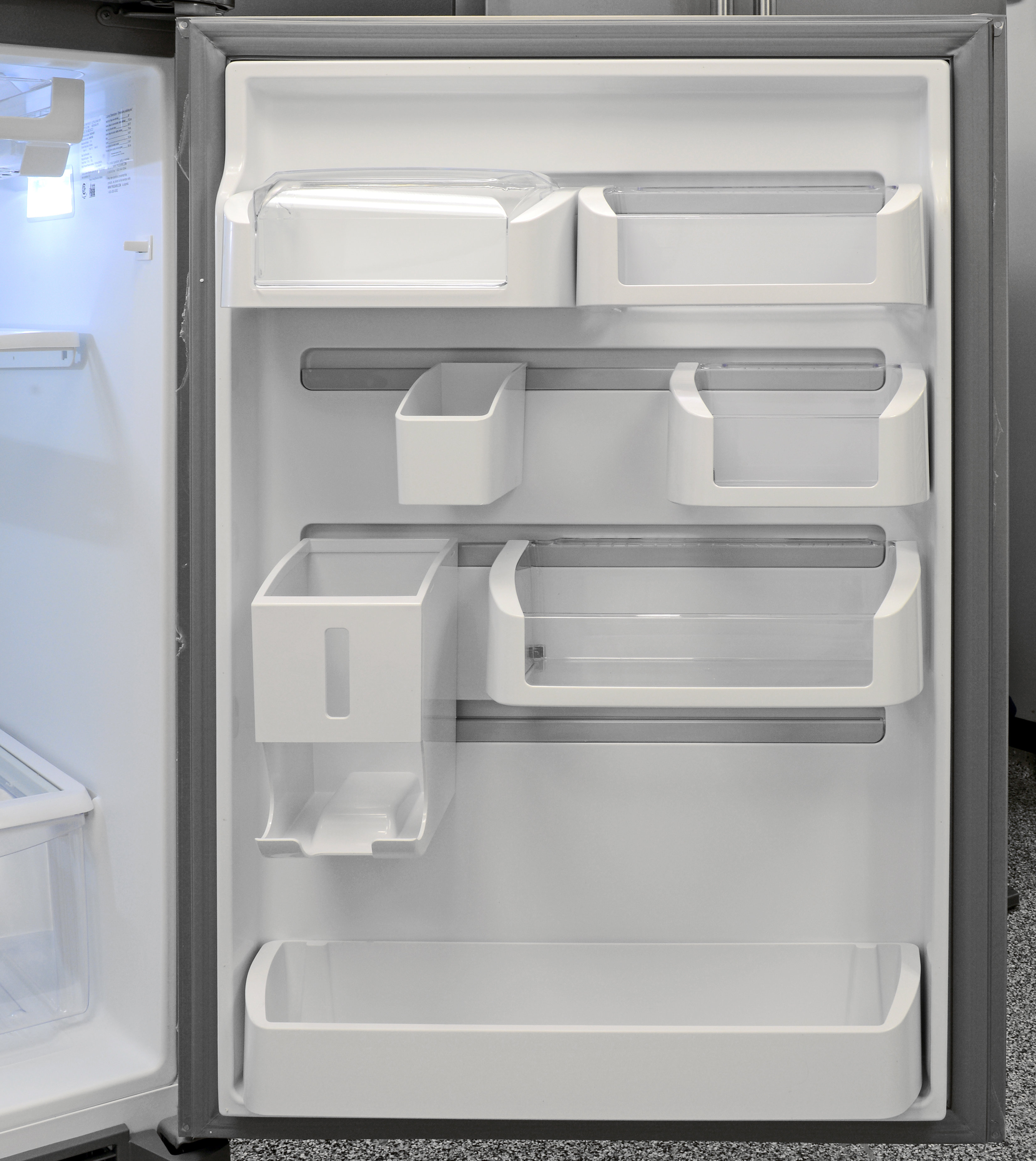 The Frigidaire Gallery FGHI2164QF's Custom-Flex door is completely customizable. Shelves even slide to the left and right for easy access.