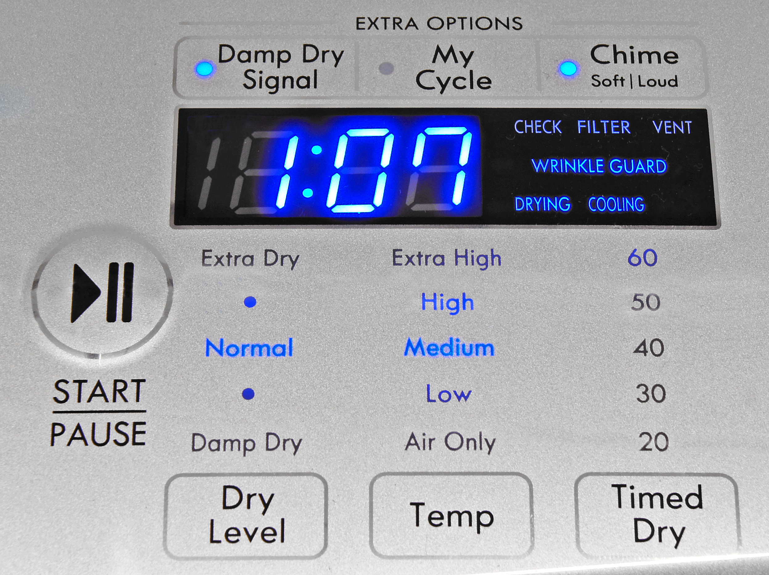 The Kenmore Elite 61422's feature list is slim, but features useful options like a customizable My Cycle.