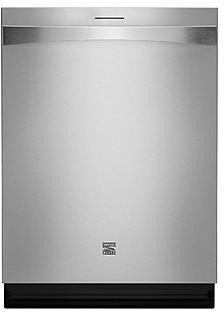 Kenmore Elite 12773 24 Inch Built-In Stainless Steel Dishwasher