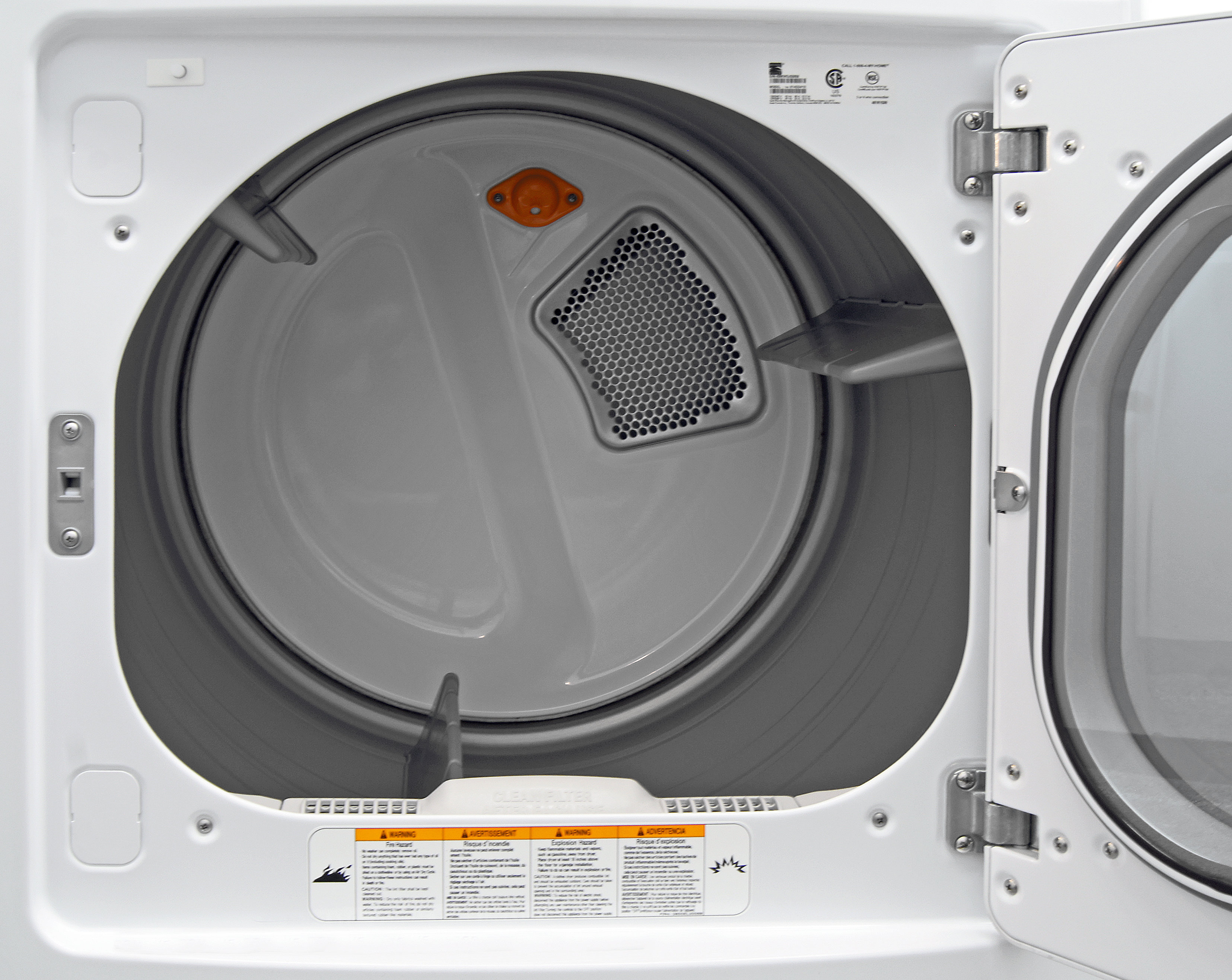 The Kenmore Elite 61422's stainless steel drum is resistant to flaking or rusting over time.