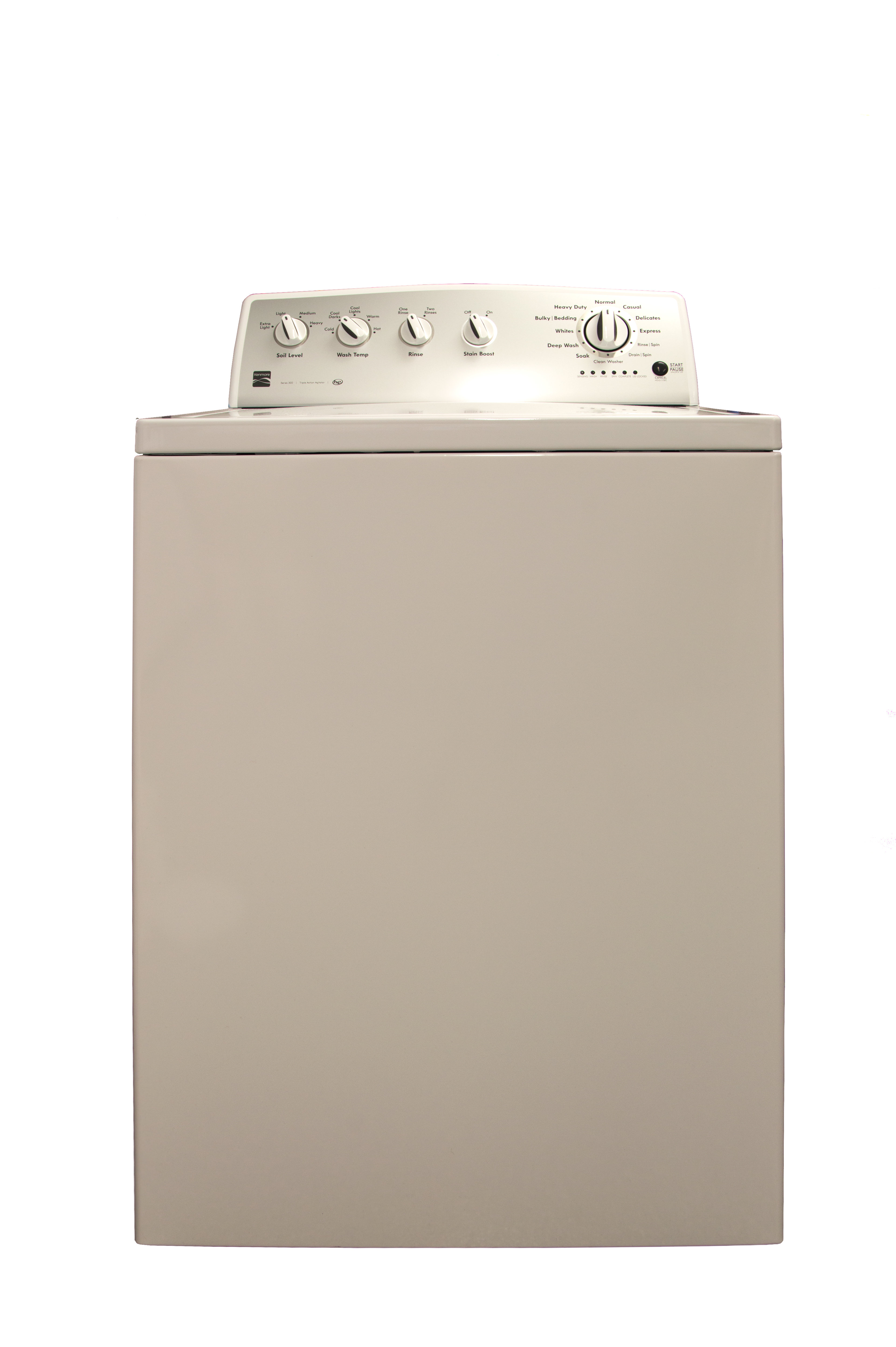 The Kenmore 22342 is a decidedly plain washer.