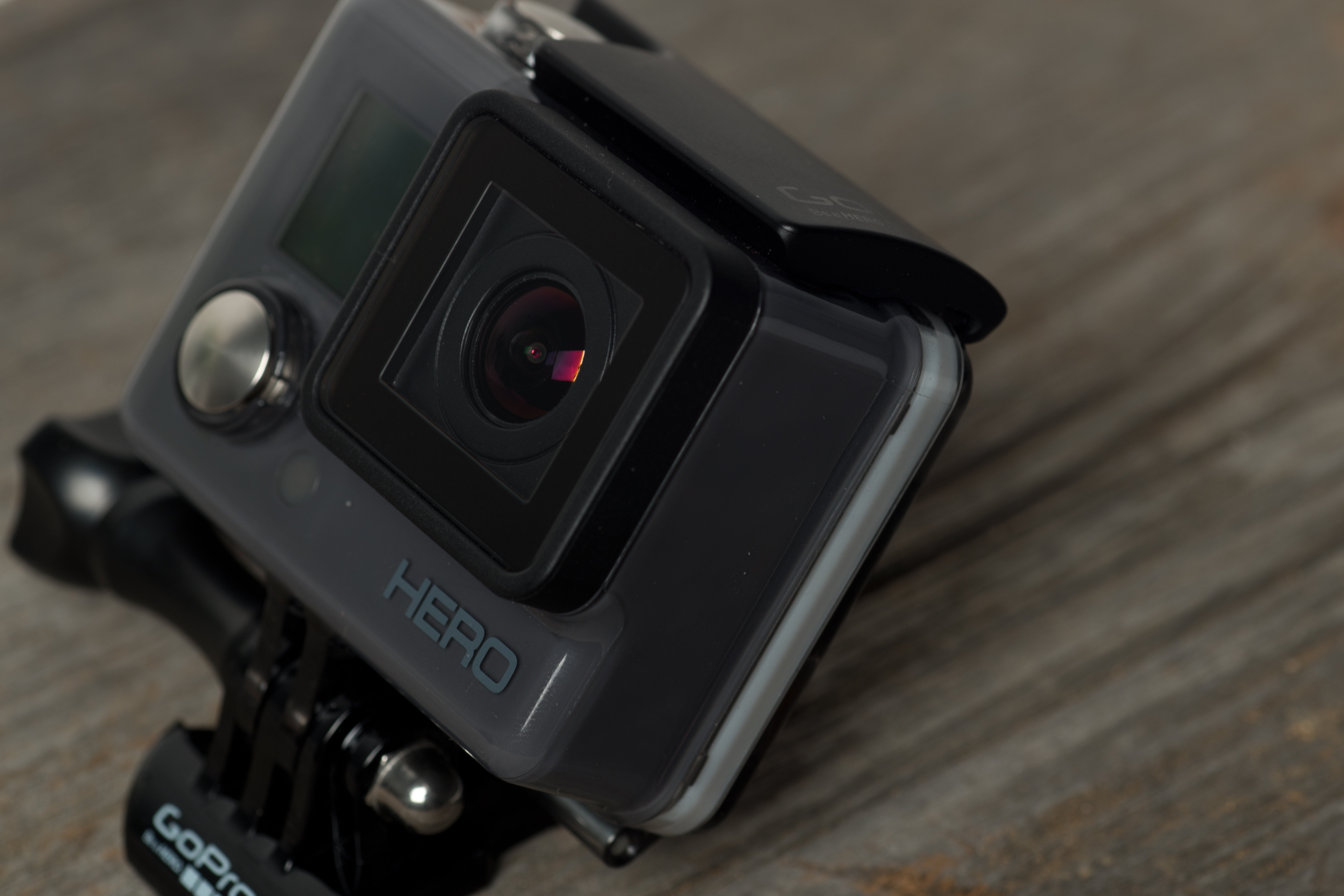 A photograph of the GoPro Hero 2014 edition's casing.
