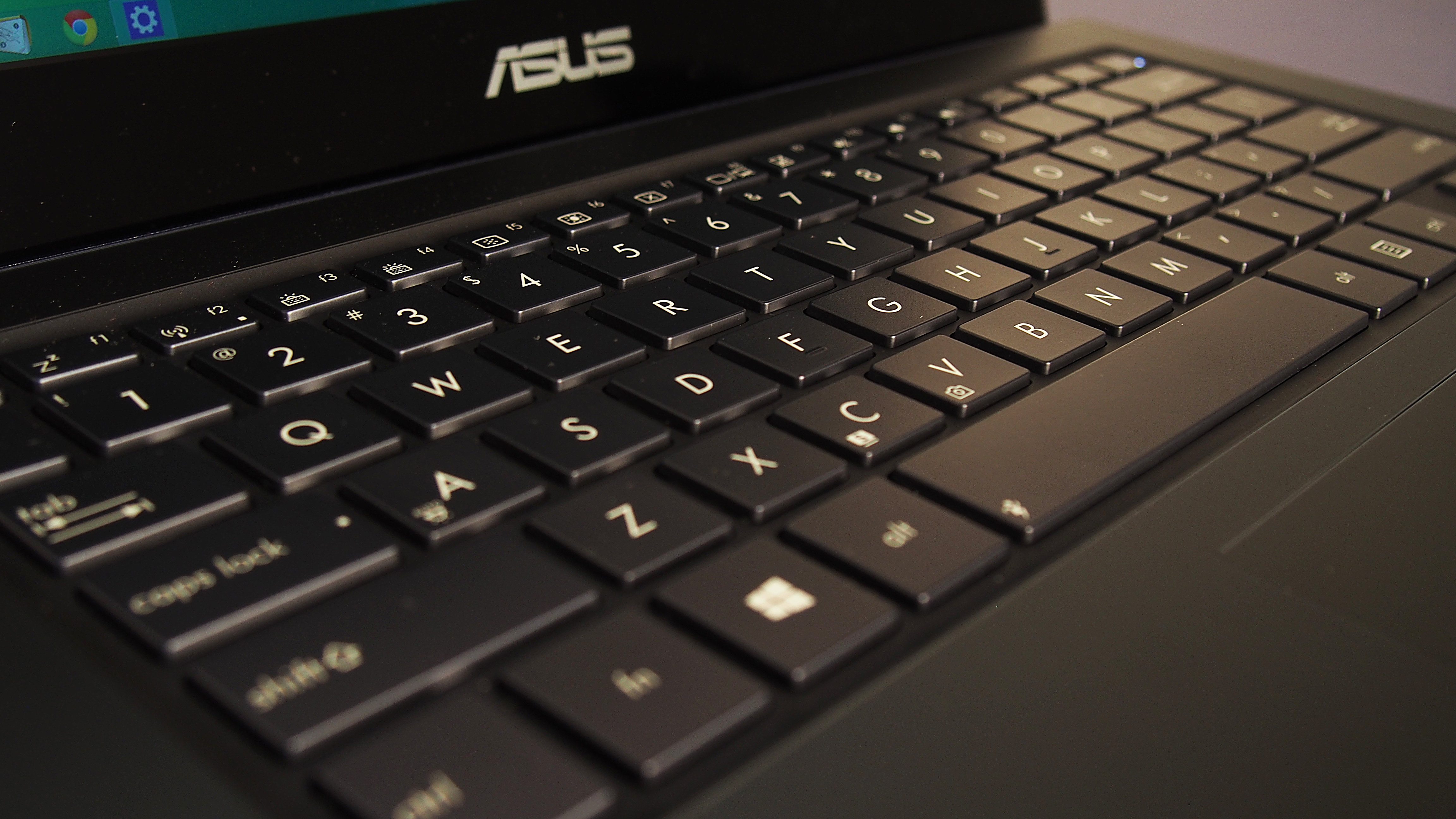 This Zenbook's keyboard is firm with plenty of action.