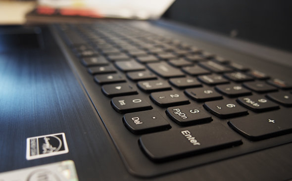 The Flex 15's keyboard is excellent and includes a number pad.