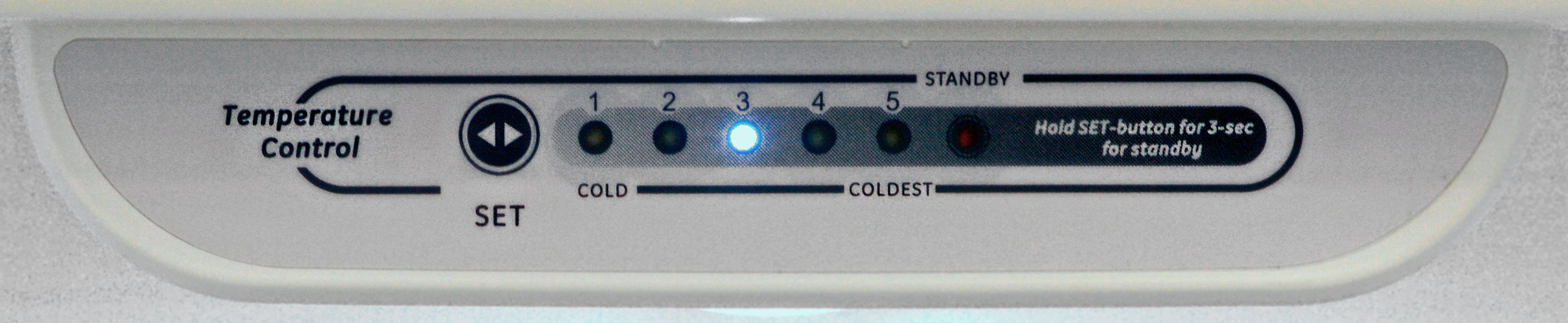 We found that the fridge runs warm, so you'll want to make sure the controls are set a little cooler than you might expect.