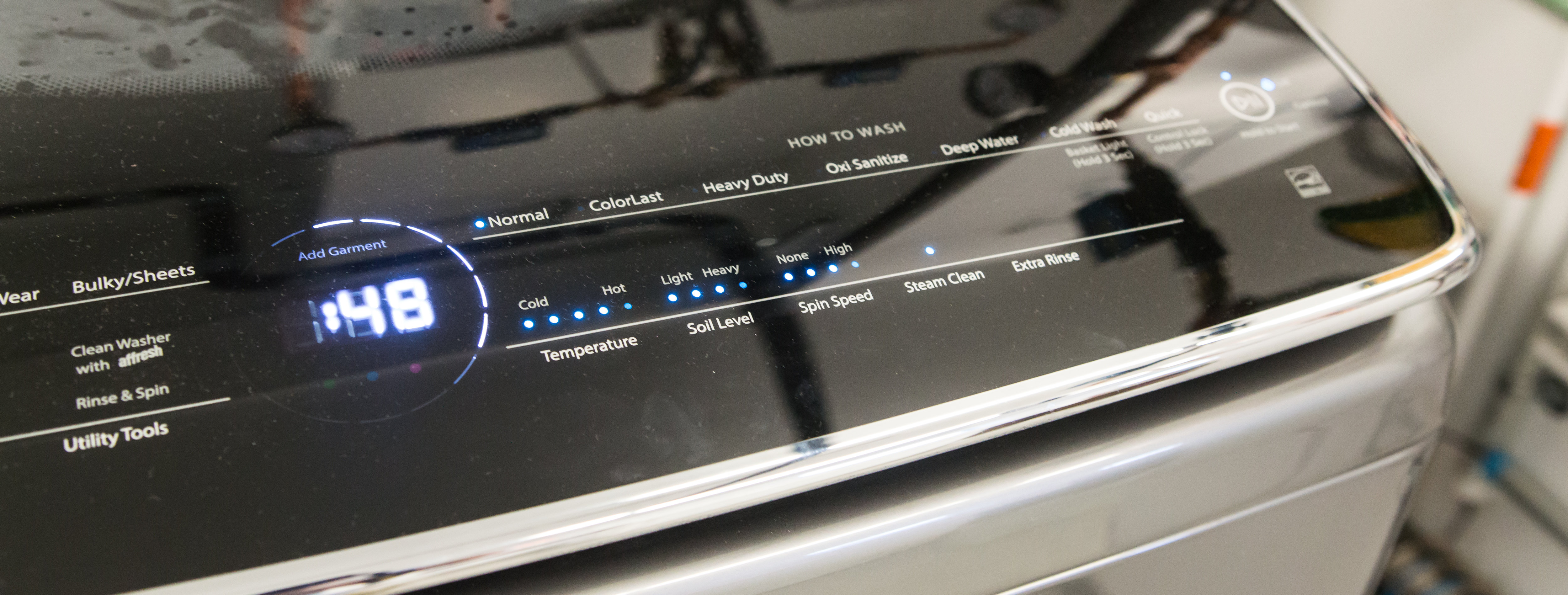 The How to Wash side of the interface, featuring the new ColorLast option.