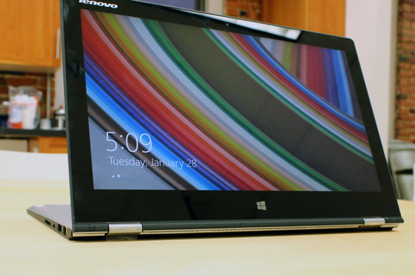 The Yoga 2 Pro in stand mode