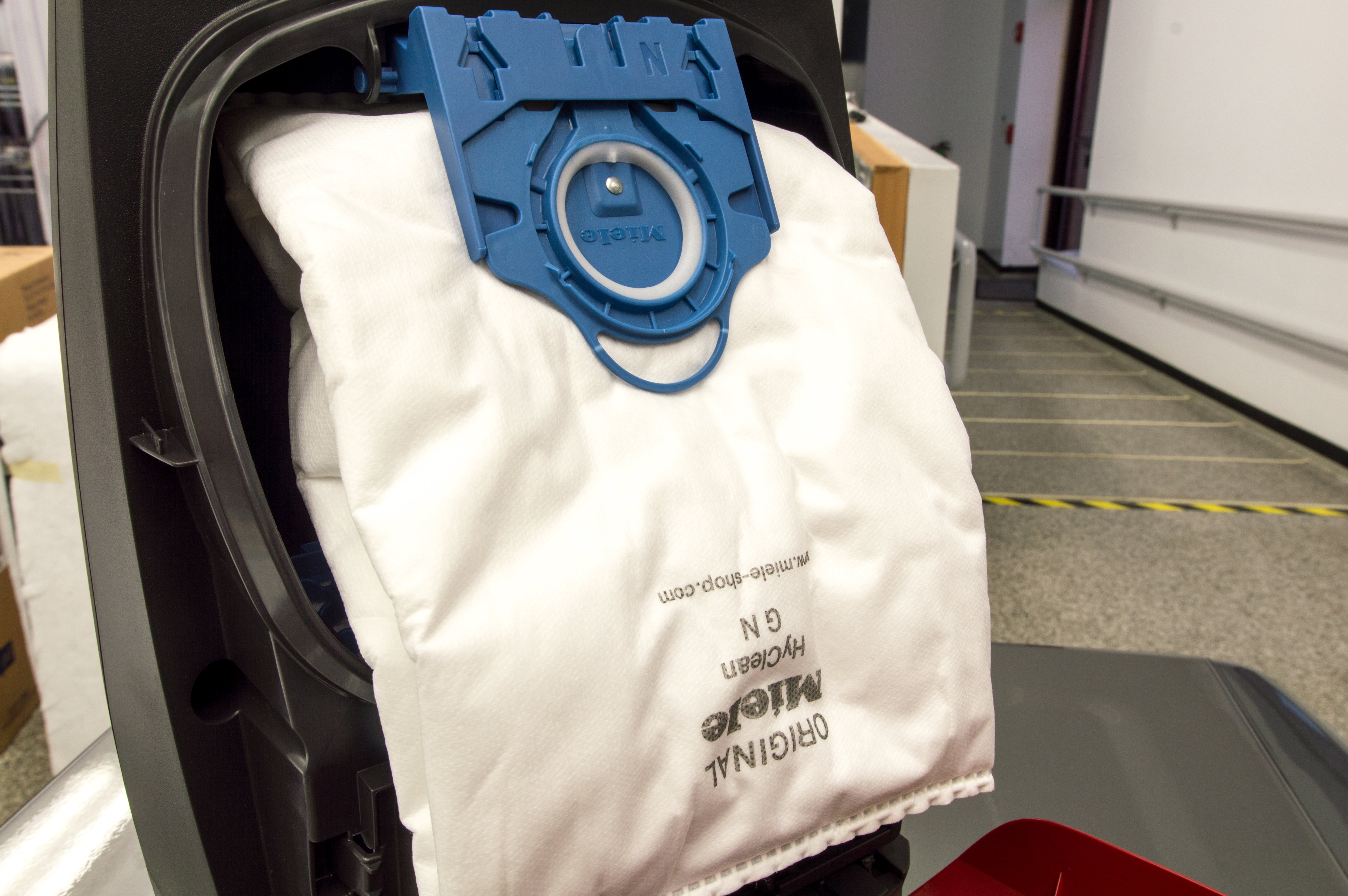 Miele vacuums use bags instead of canisters. They cost around $6 each and hold 4.7 quarts of dirt.