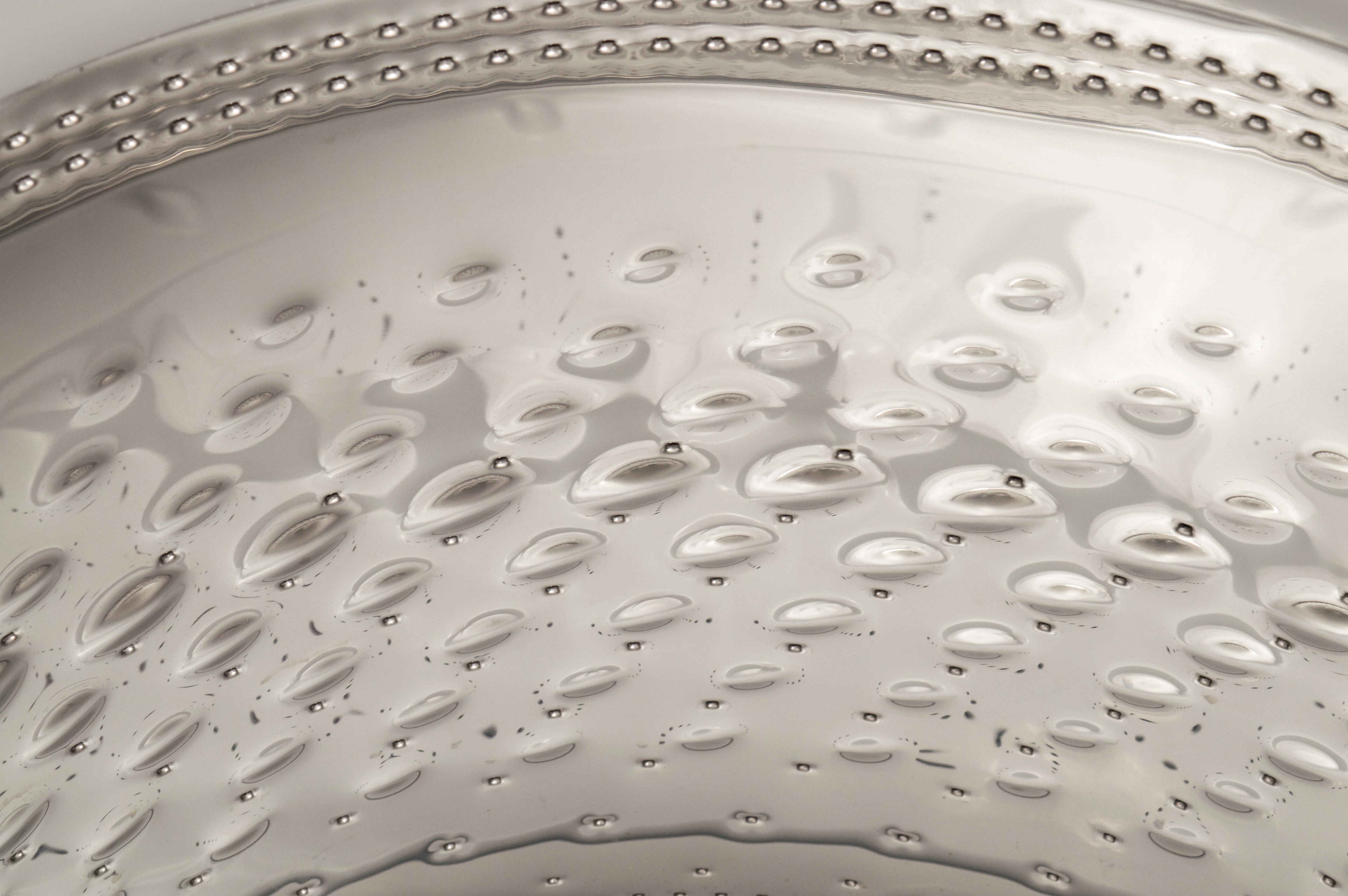 The steel bubbles help wash your clothes without destroying them.