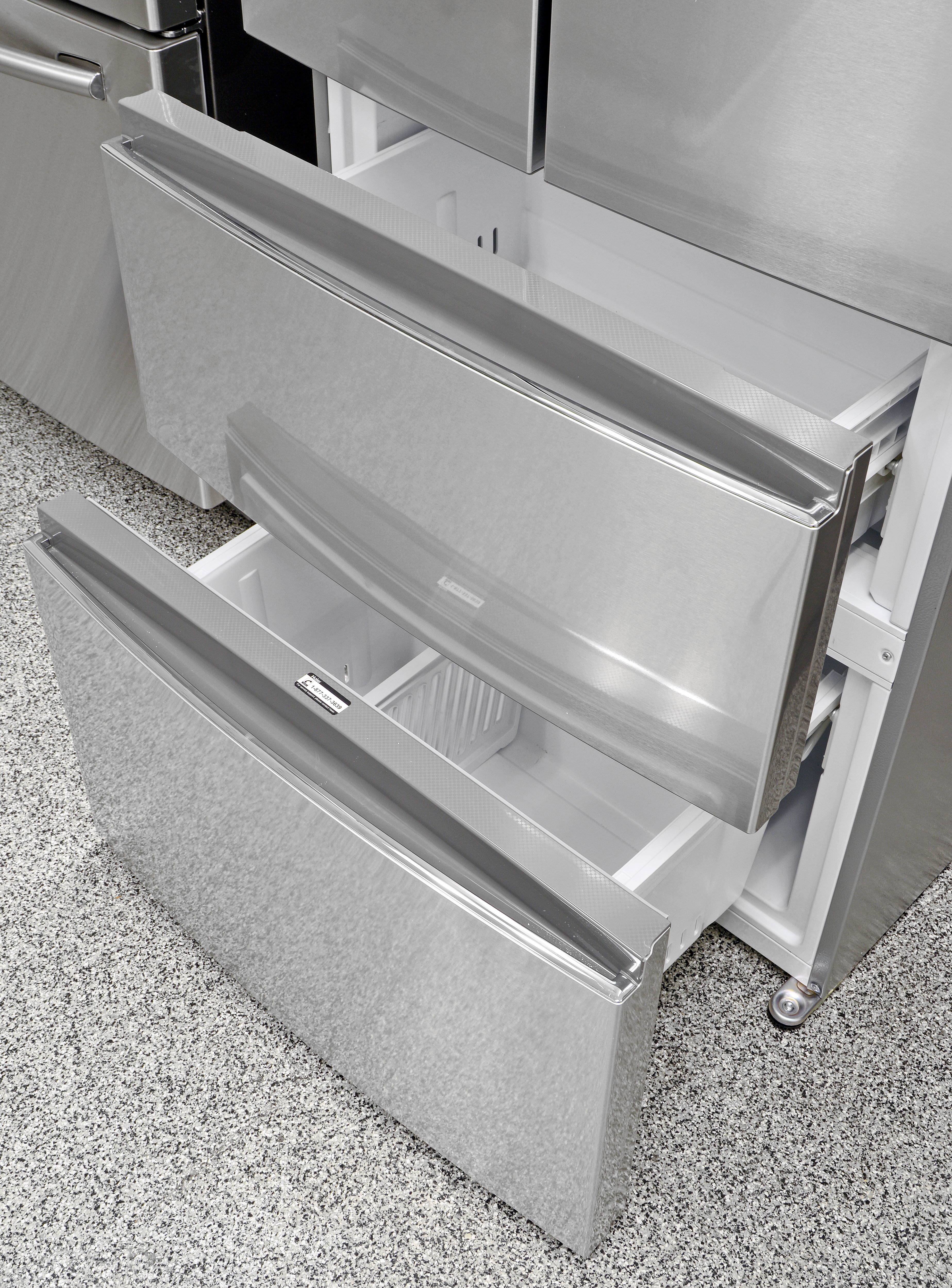 Both of the Haier HRF15N3AGS's freezer drawers are surprisingly accessible, as long as you're comfortable bending down.