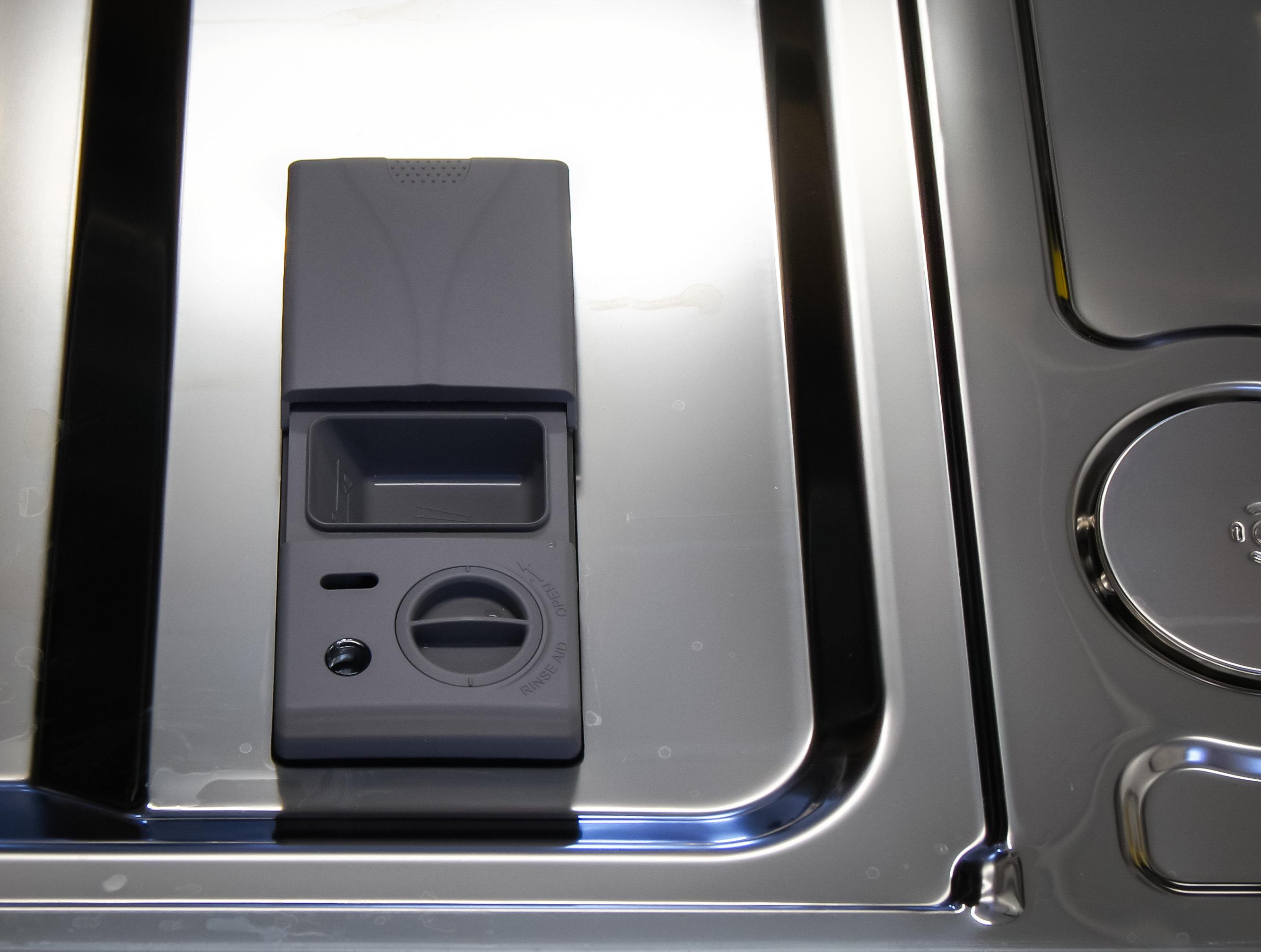 Samsung DW80H9930US rinse aid and detergent dispenser