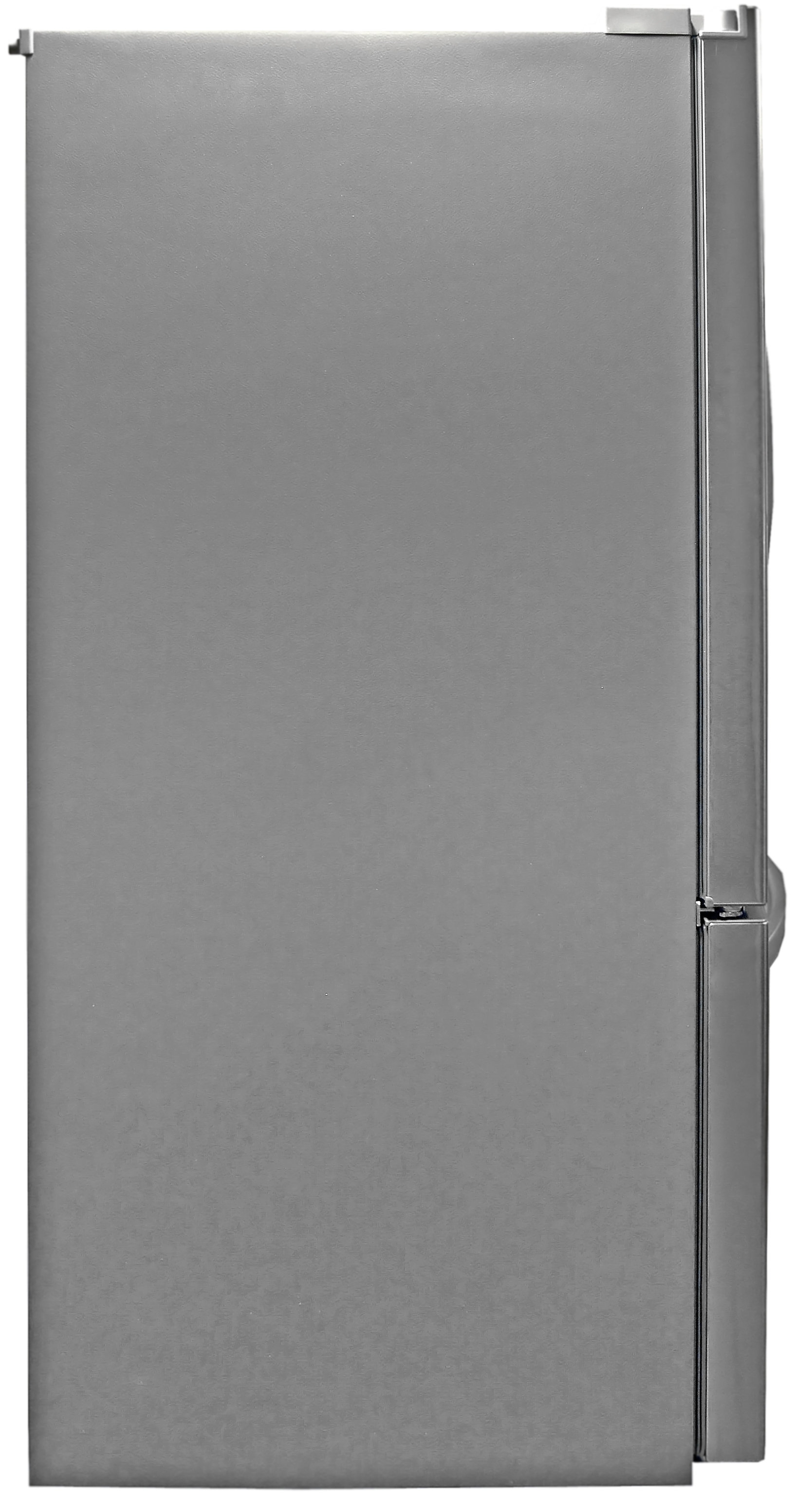 The LG LFX32945ST's grey sides are commonplace for stainless fridges.