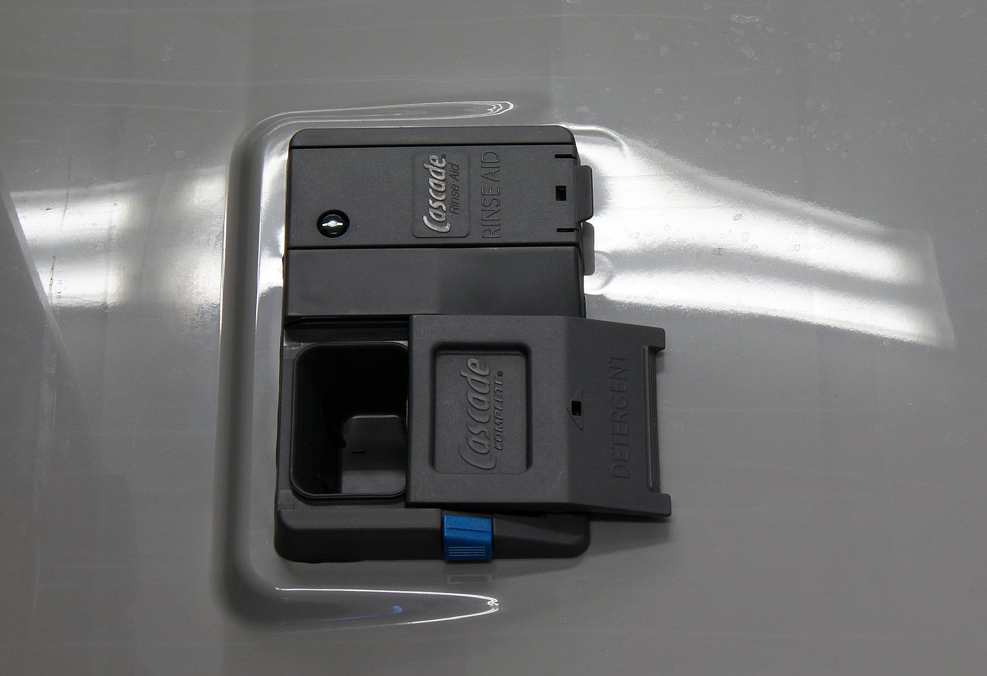 GE Artistry ADT521PGFWS detergent and rinse aid dispenser
